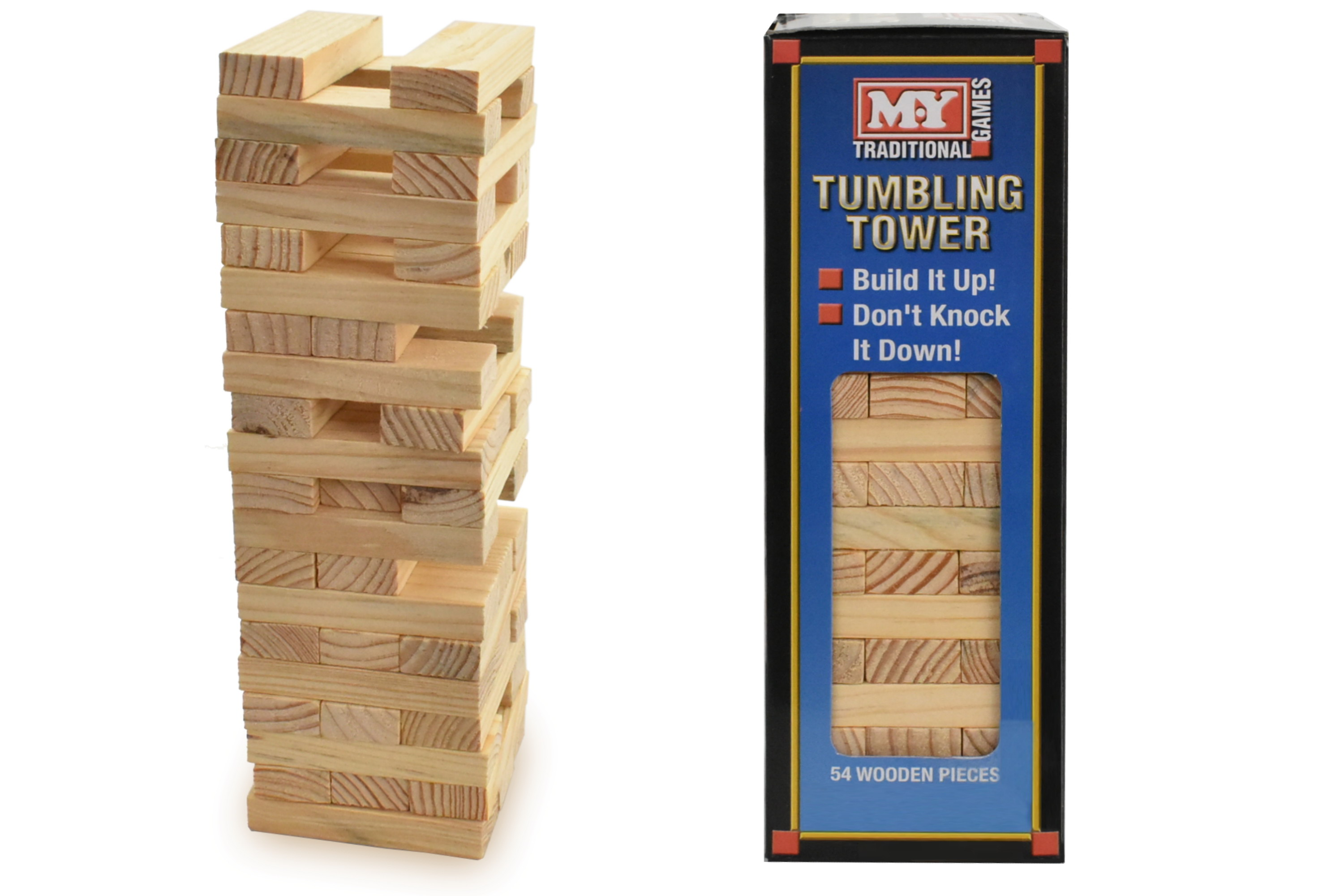 """Wooden Tumbling Tower In Window Box """"M.Y"""""""