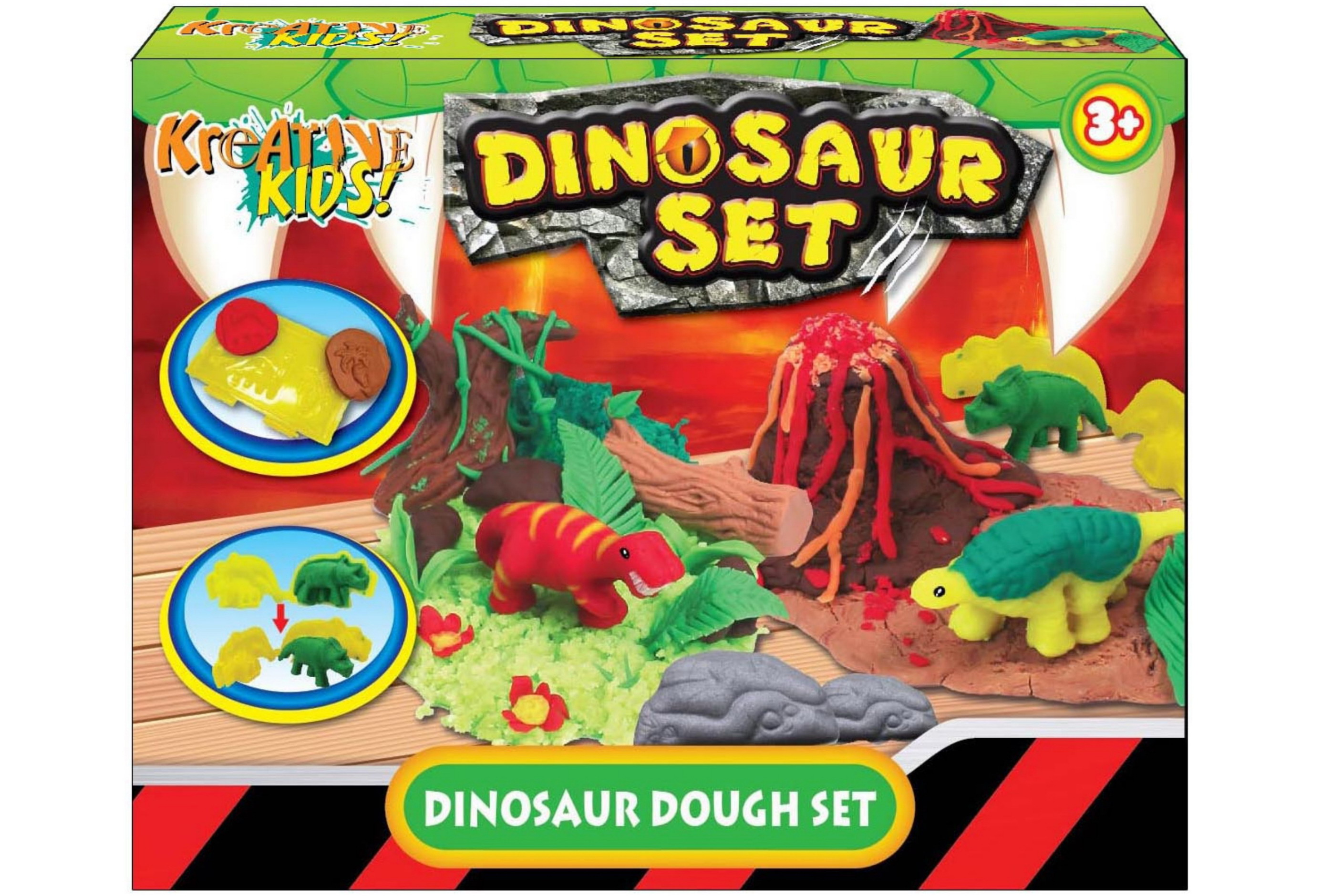 Dinosaur Dough Set In Colour Box