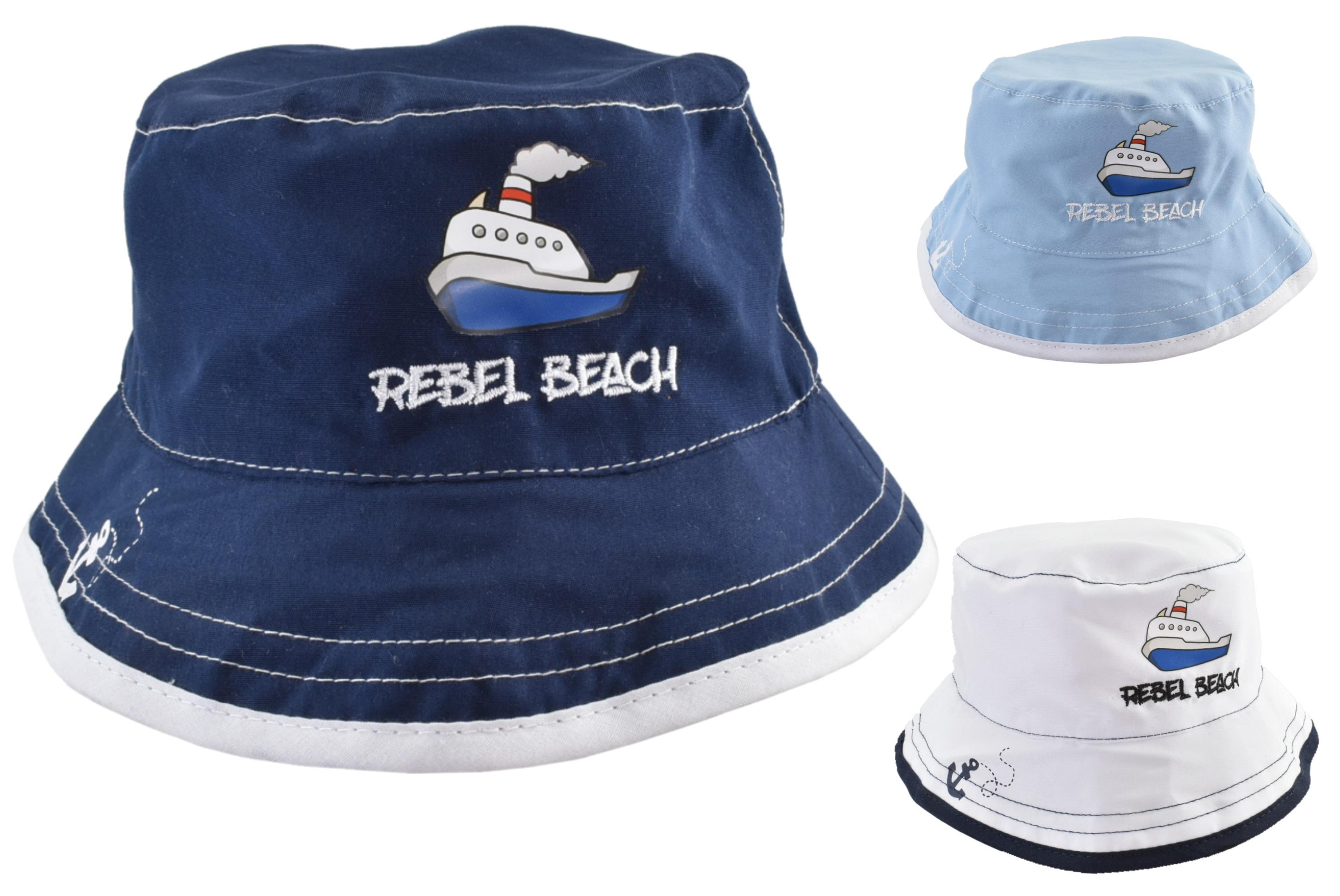 Kids Bucket Hat Nautical Design 48cm 3 Assorted Colours