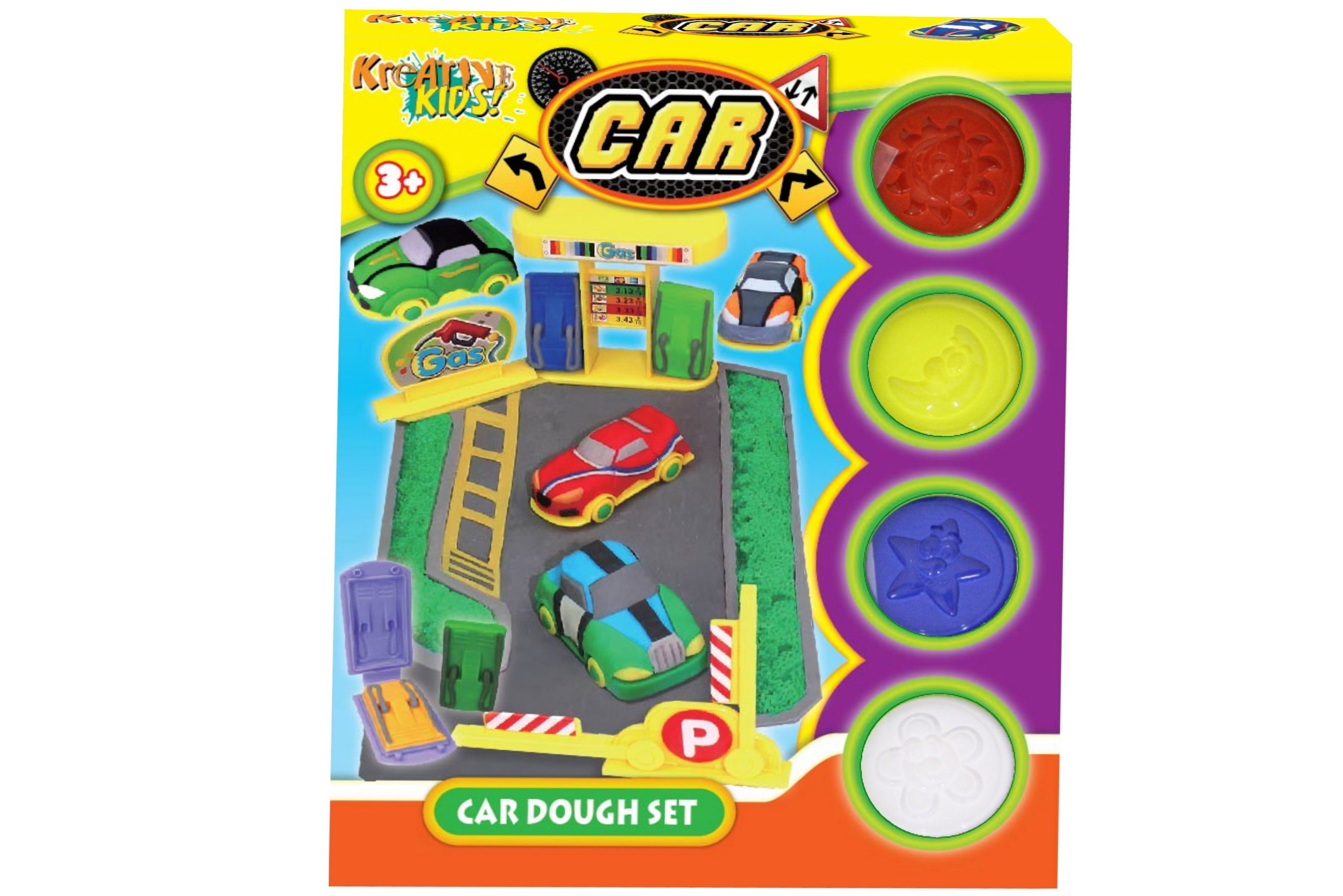 Car Dough Set In Colour Box