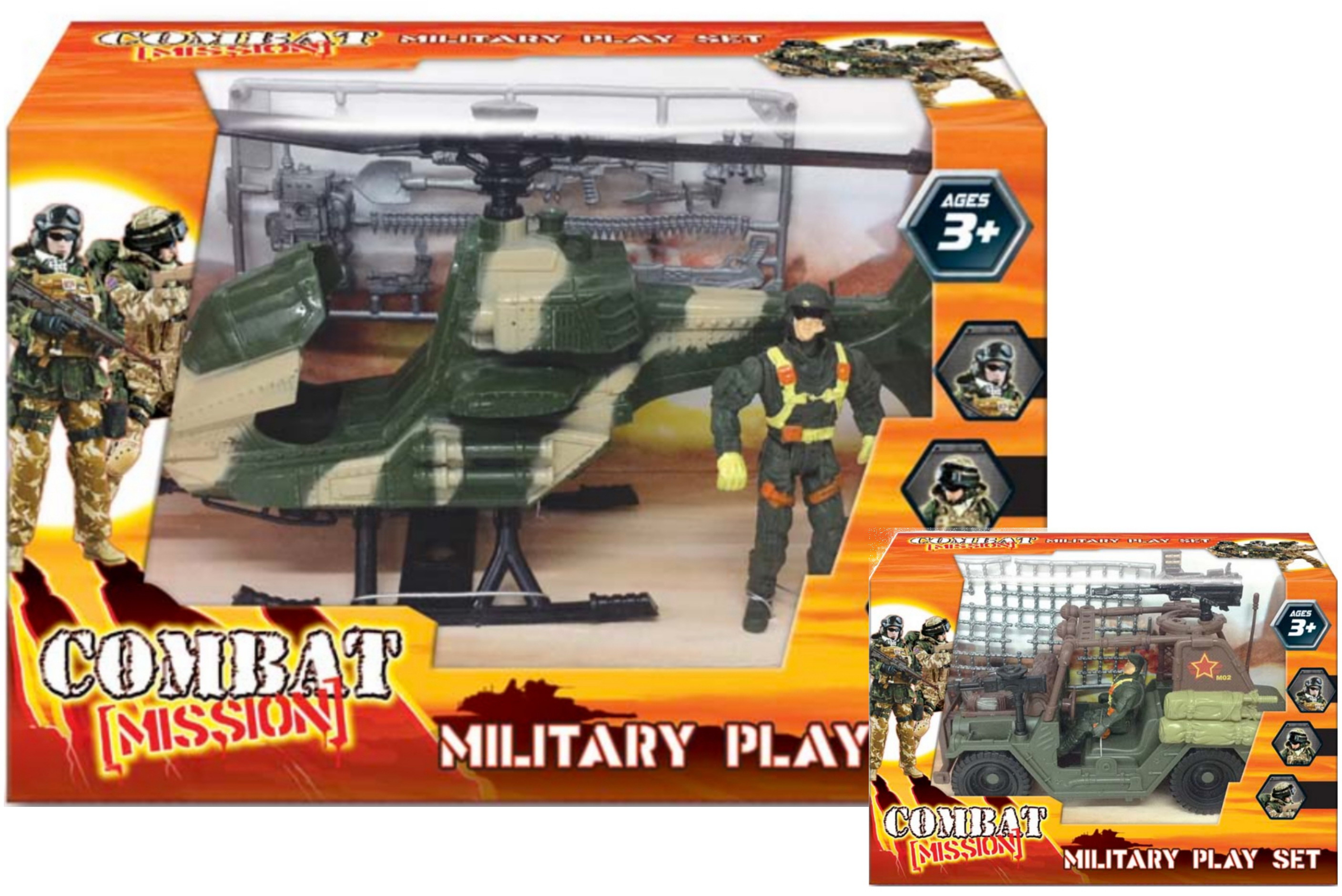 "Small Military Playset In Wbx 2 Asst ""Combat Mission"""