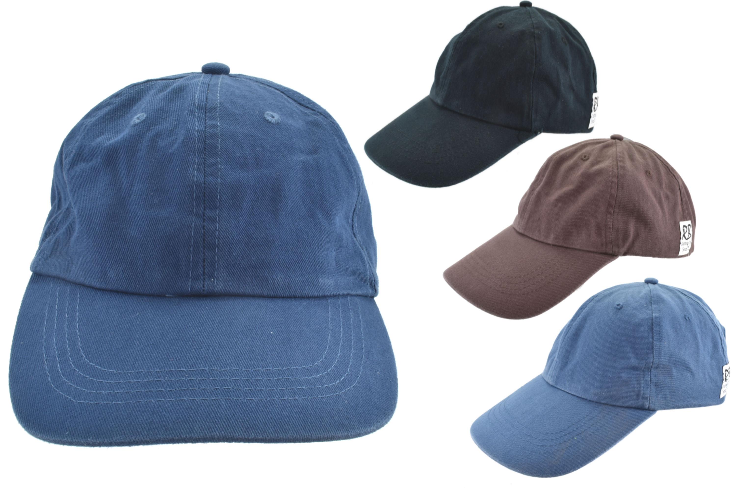 Stonewash Baseball Cap Adults 4 Asst Colours