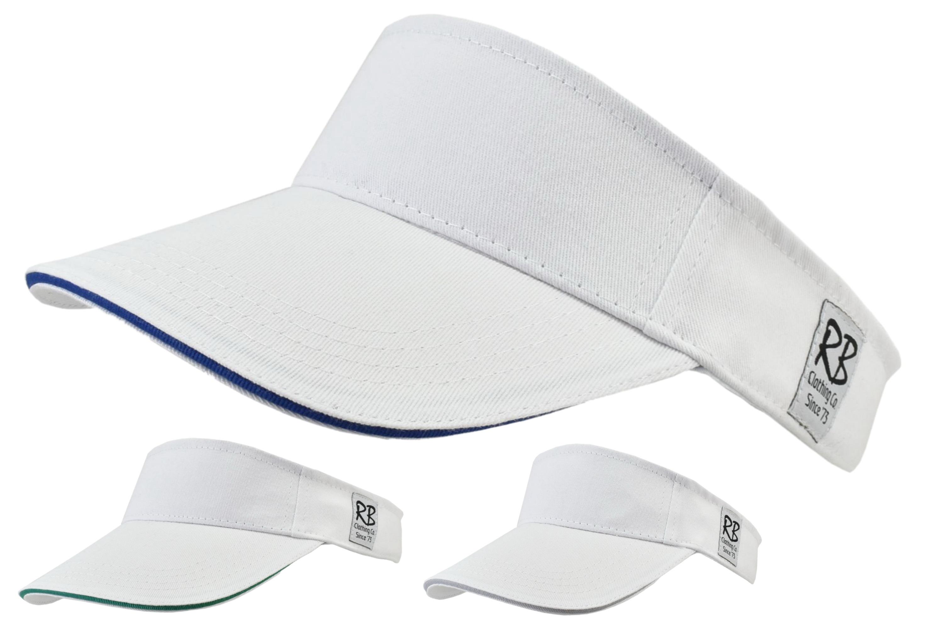 White Cotton Visor With Comfort Band