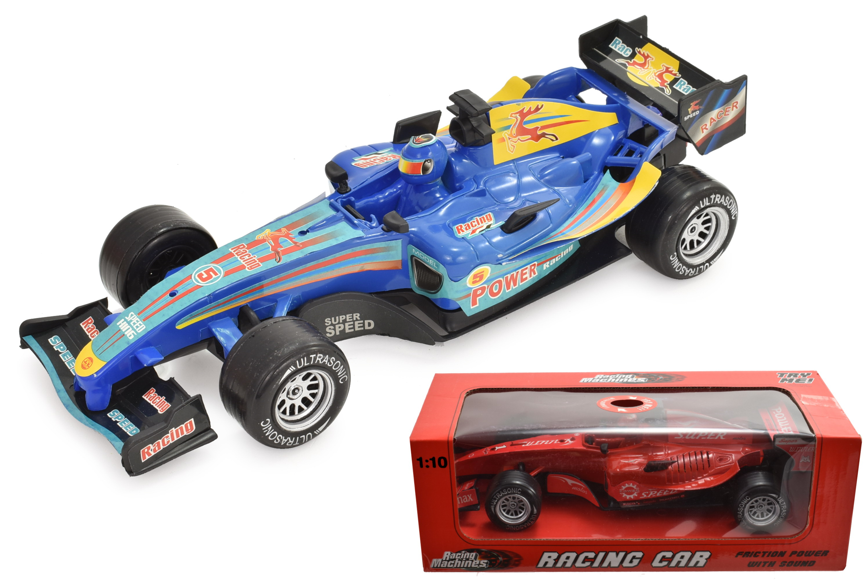 F1 Style Racing Car Toy With Sound Gift Present For Boy Son Grandson Nephew Kid