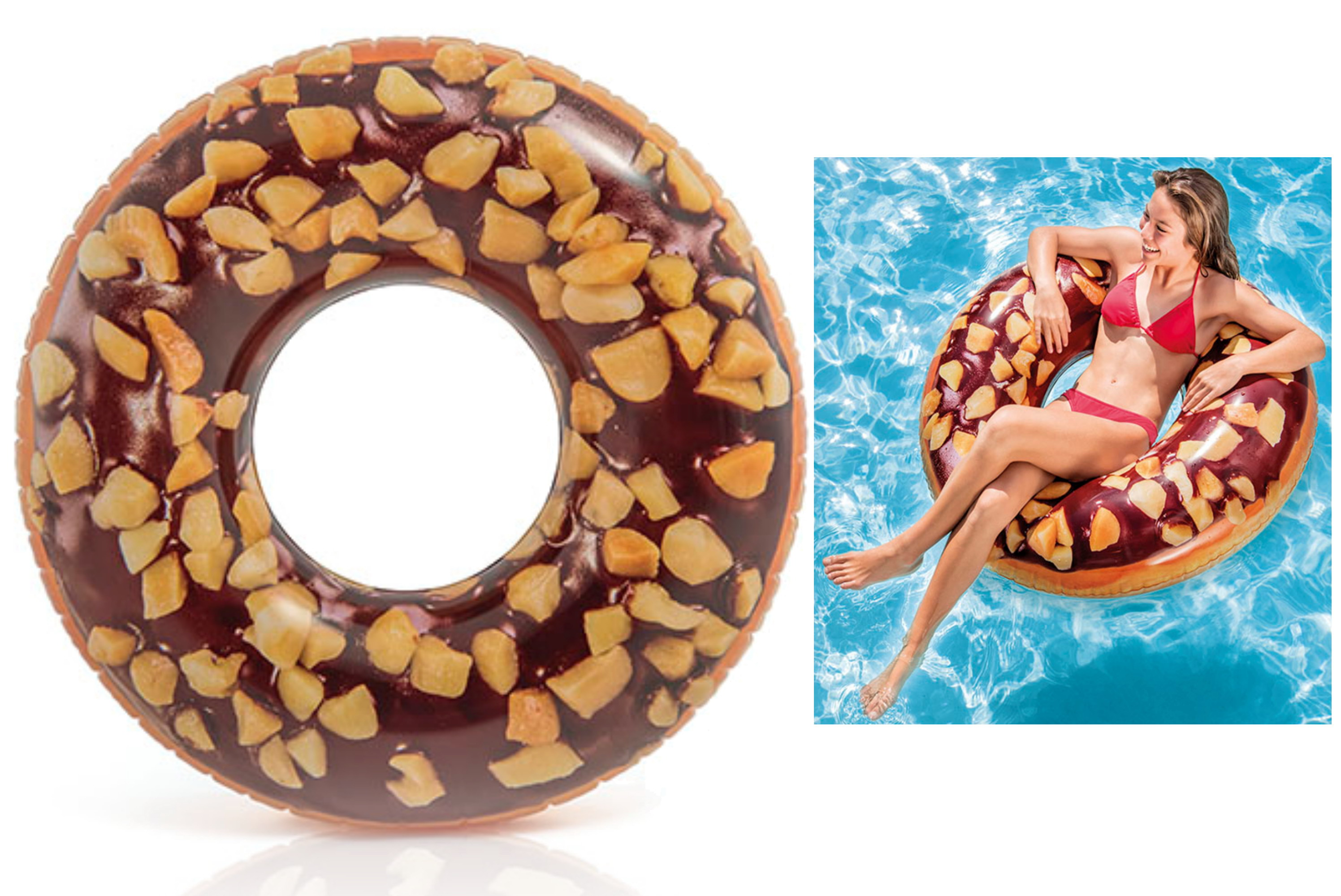 Chocolate & Nuts Donut Tube 45""