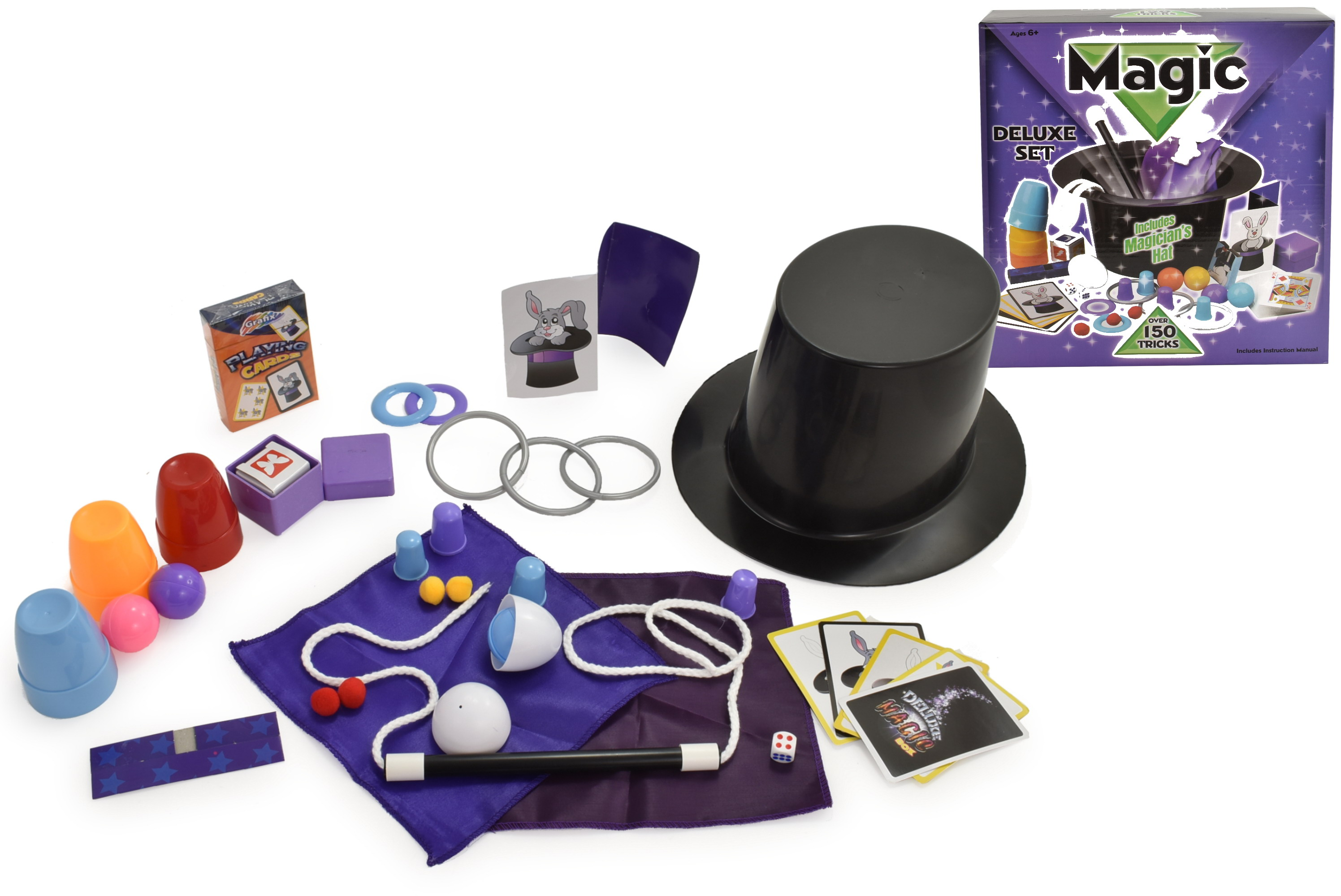 Deluxe Magic Trick Set With Hat In Colour Box