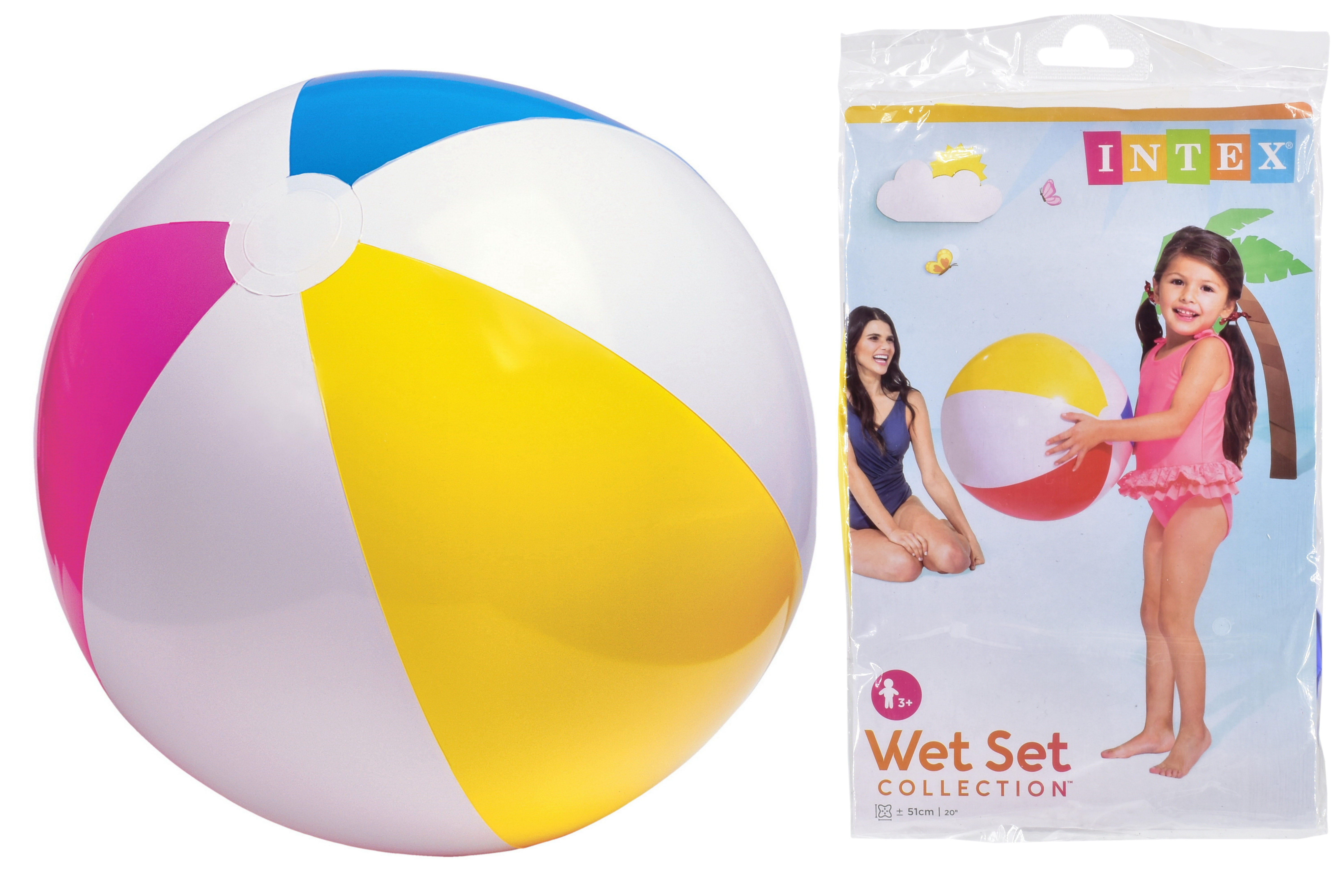 "20"" Glossy Panel Beach Ball In Polybag"