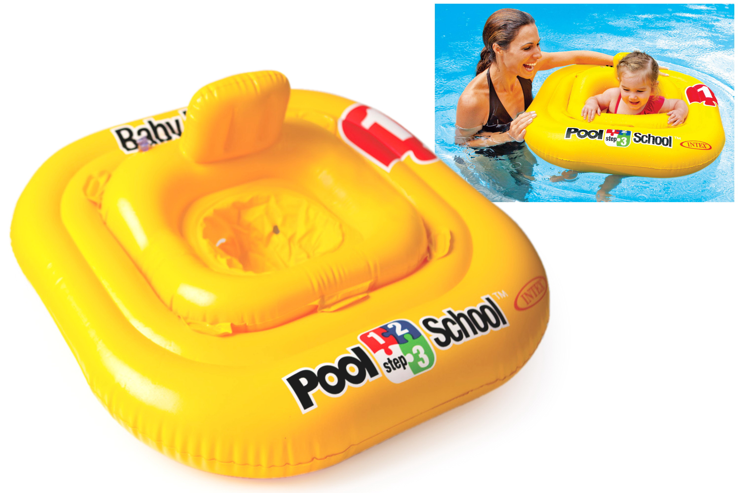 Deluxe Baby Float Pool Seat (Ages 1-2 Years) In Peg Box