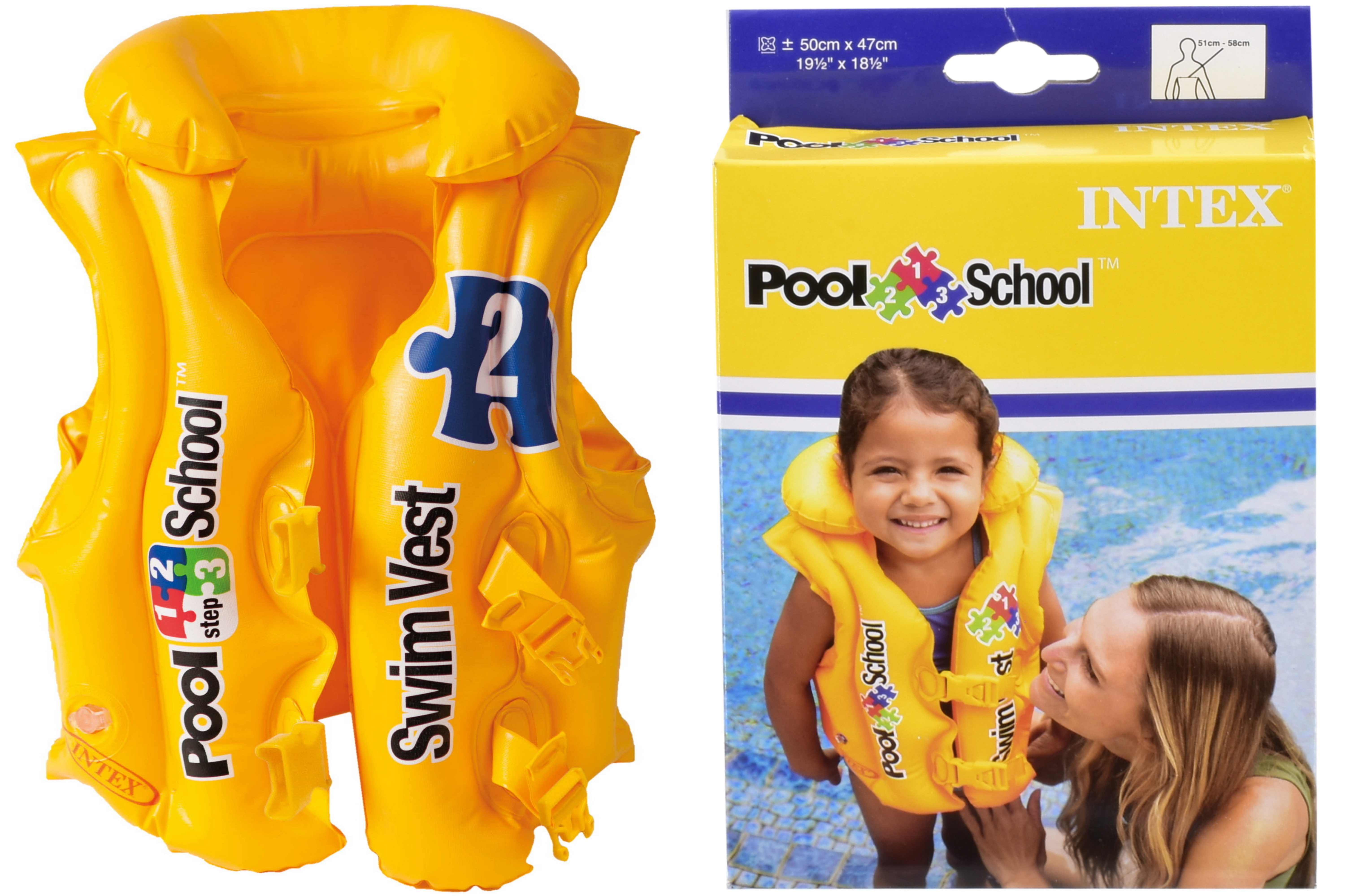 Pool School Deluxe Swim Vest (Ages 3-6 Yrs) In Peg Box