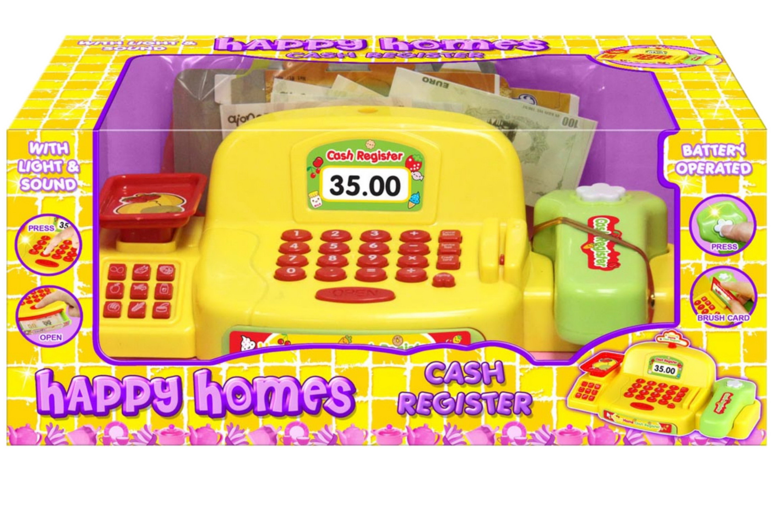 "B/O Cash Register With Light & Sound ""Happy Homes"""