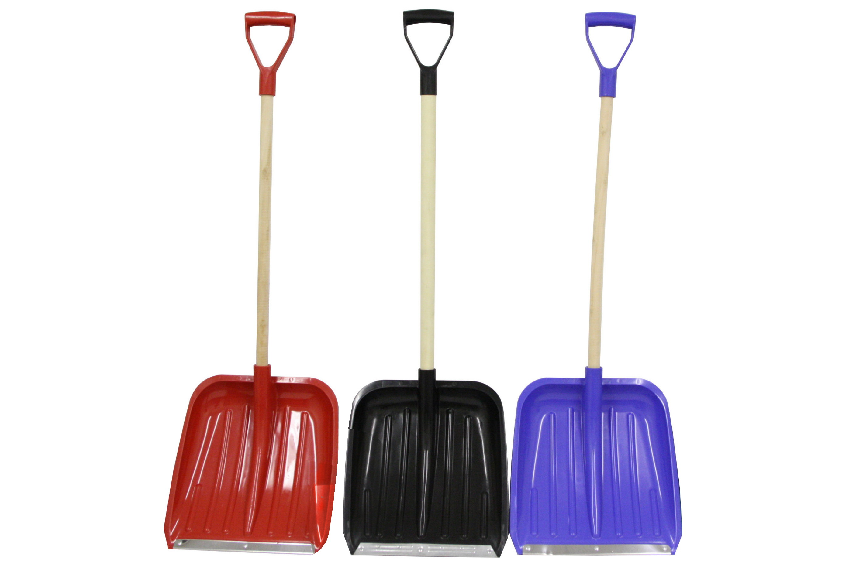 118cm Snow Shovel Wood Shaft - Metal Edge - 2pc Kd