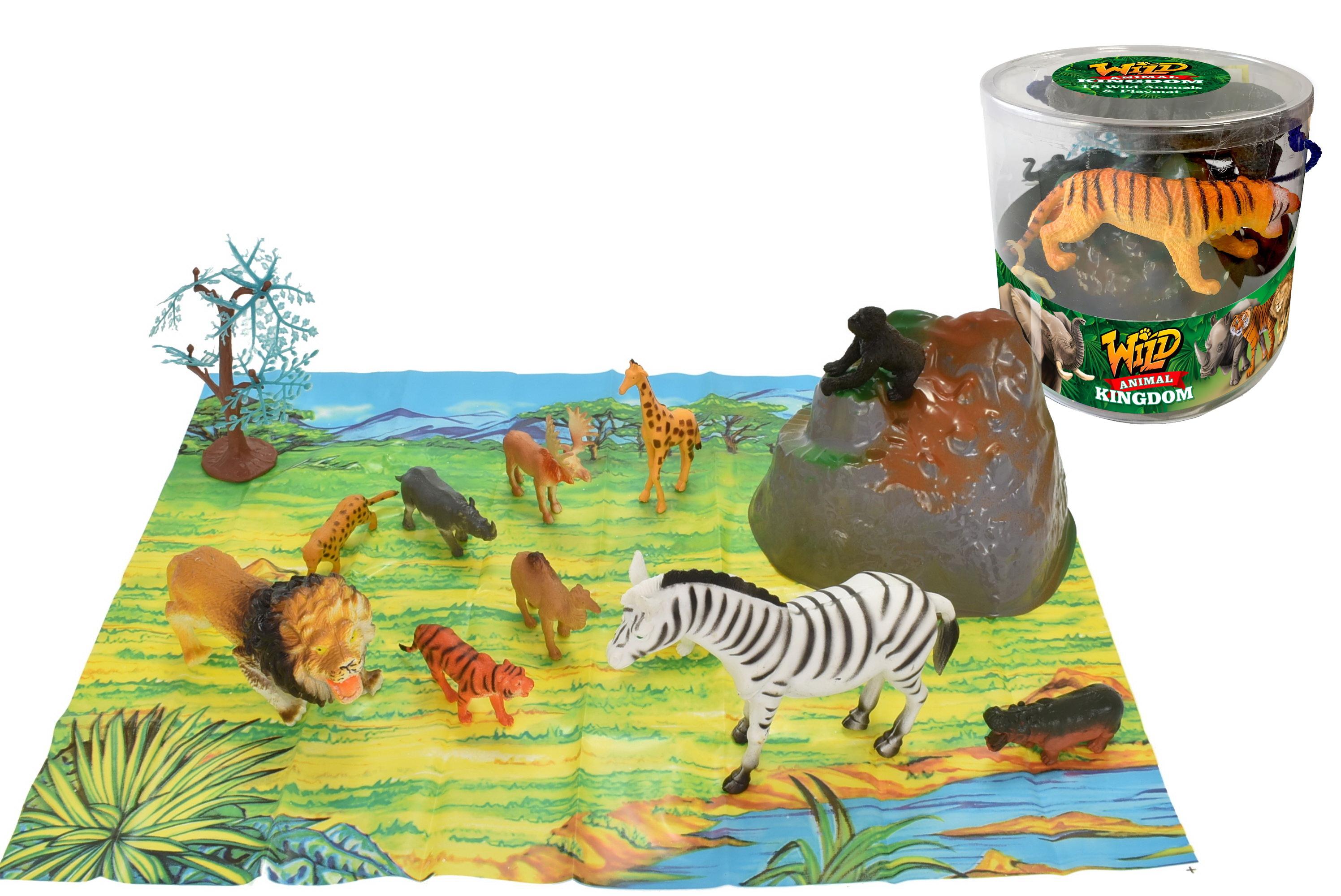 18pc Wild Animals In Tub - 2 Assorted