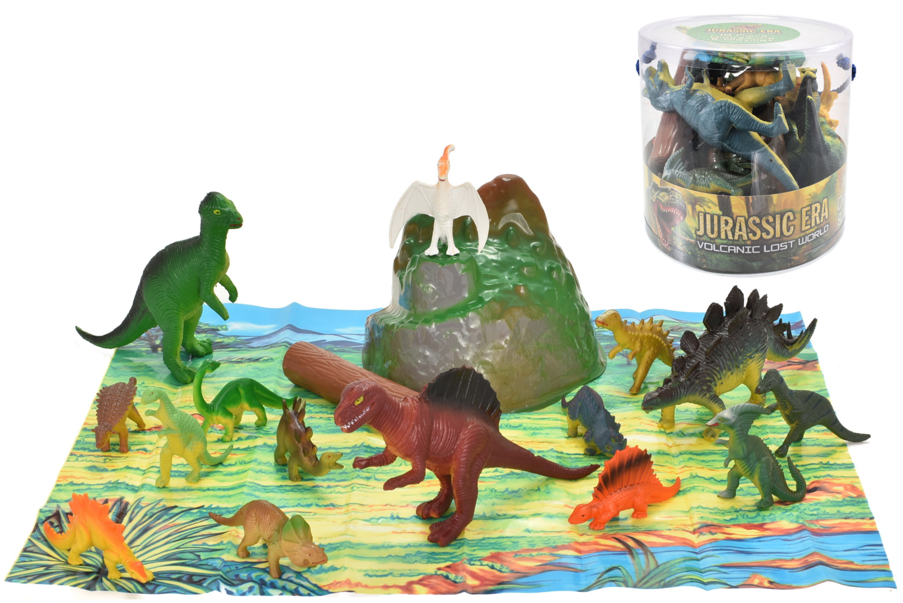 18pc Dinosaurs In Tub - 2 Assorted