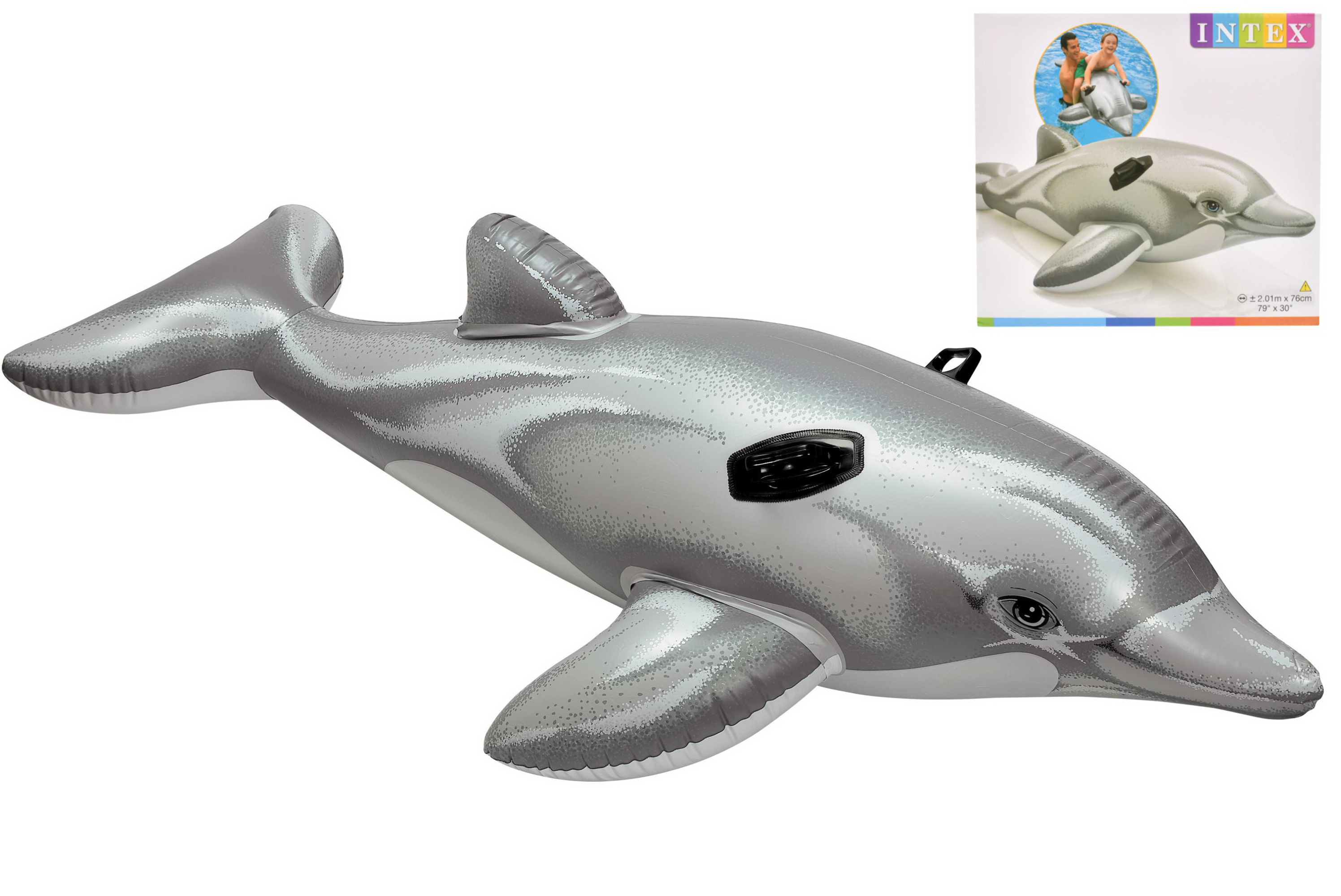 "Dolphin Ride-On - 79"" x 30""  (Np) In Shelf Box"