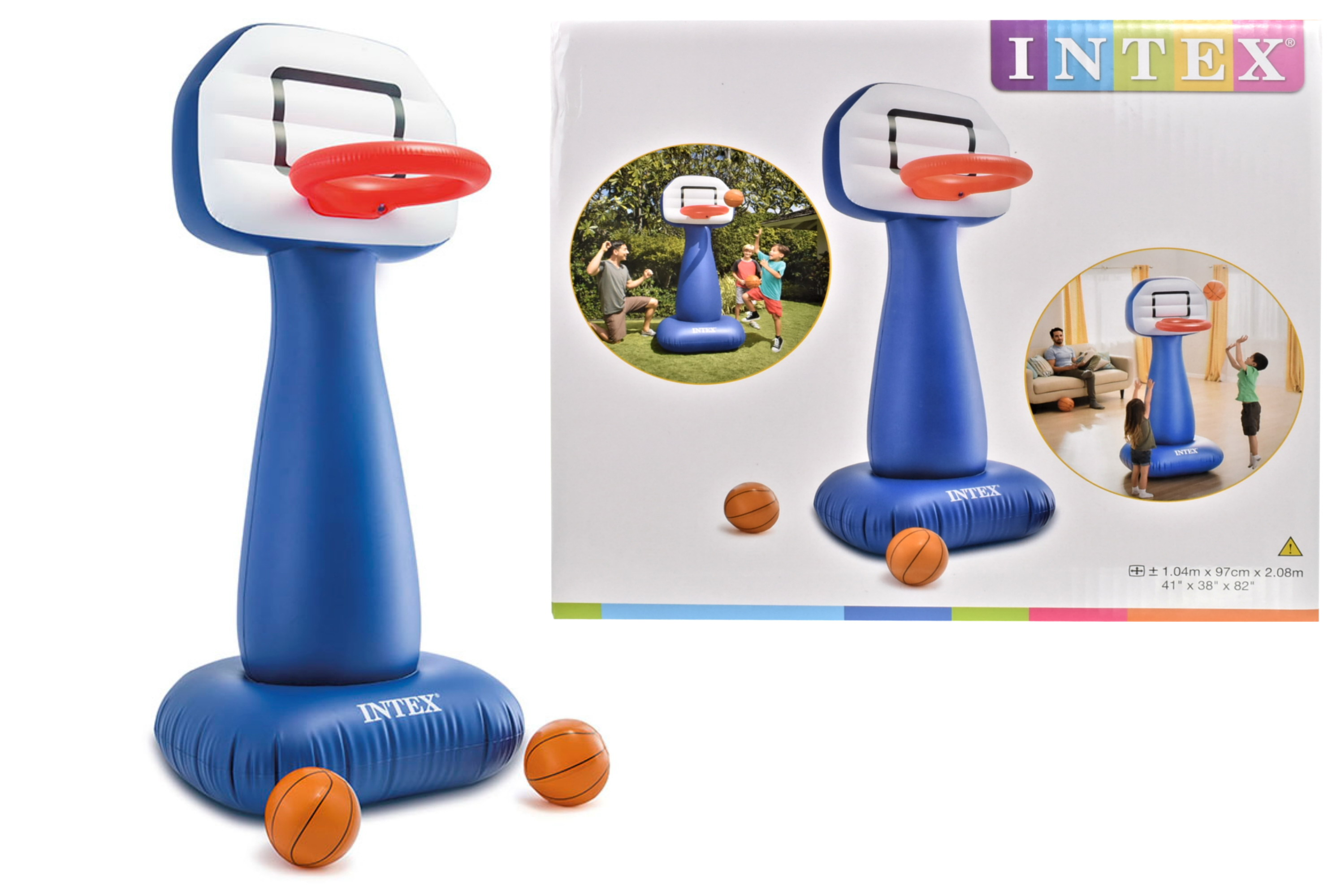 Shootin Hoops Set Inflatable Basketball