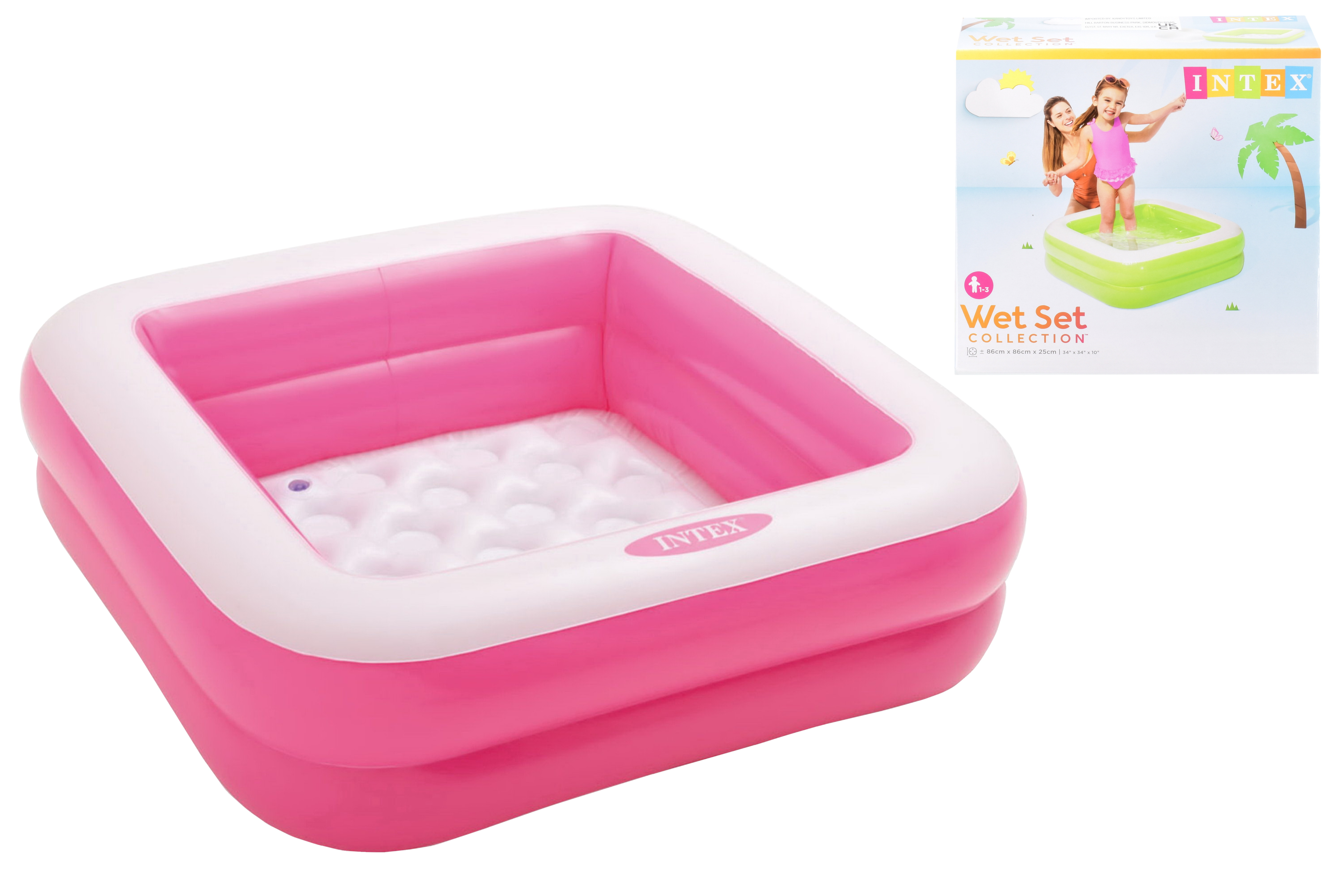 "33.5"" x 33.5"" x 9"" Play Box Pool (Ages 1-3)-2 Assorted"