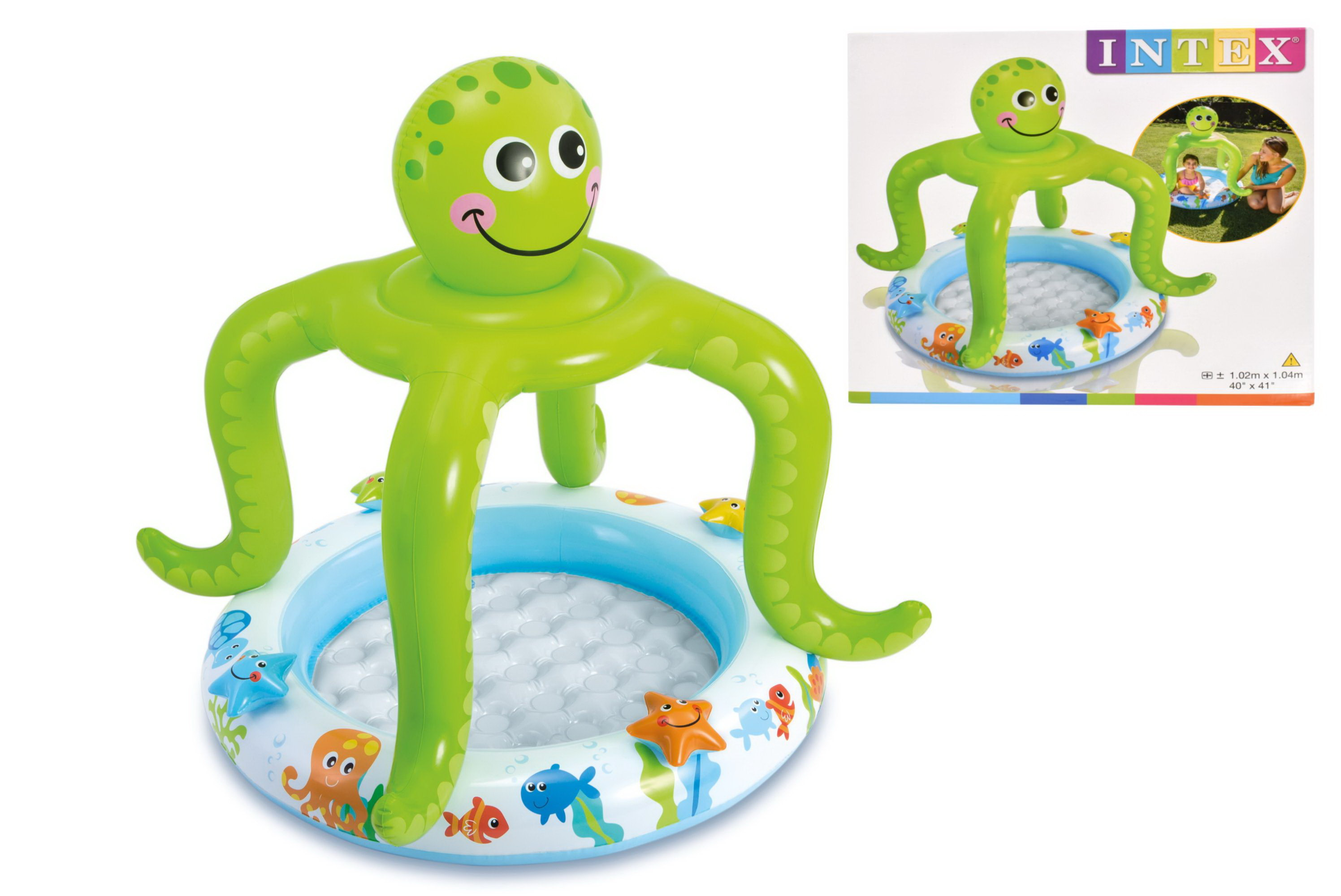 "Smiling Octopus Shade Baby Pool 40"" x 41"""