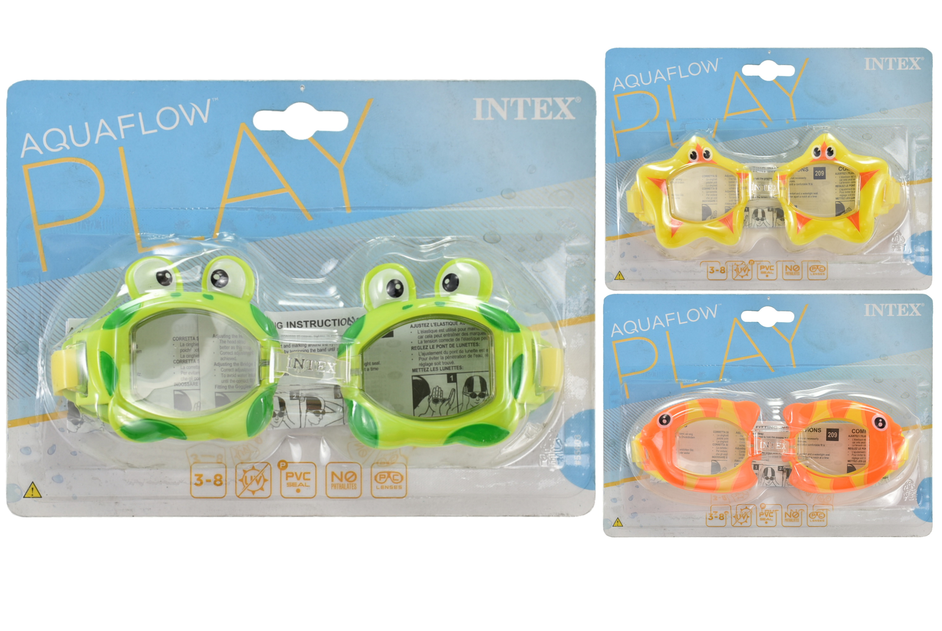 Fun Goggles Ages 3-8 (3 Assorted) On Blistercard