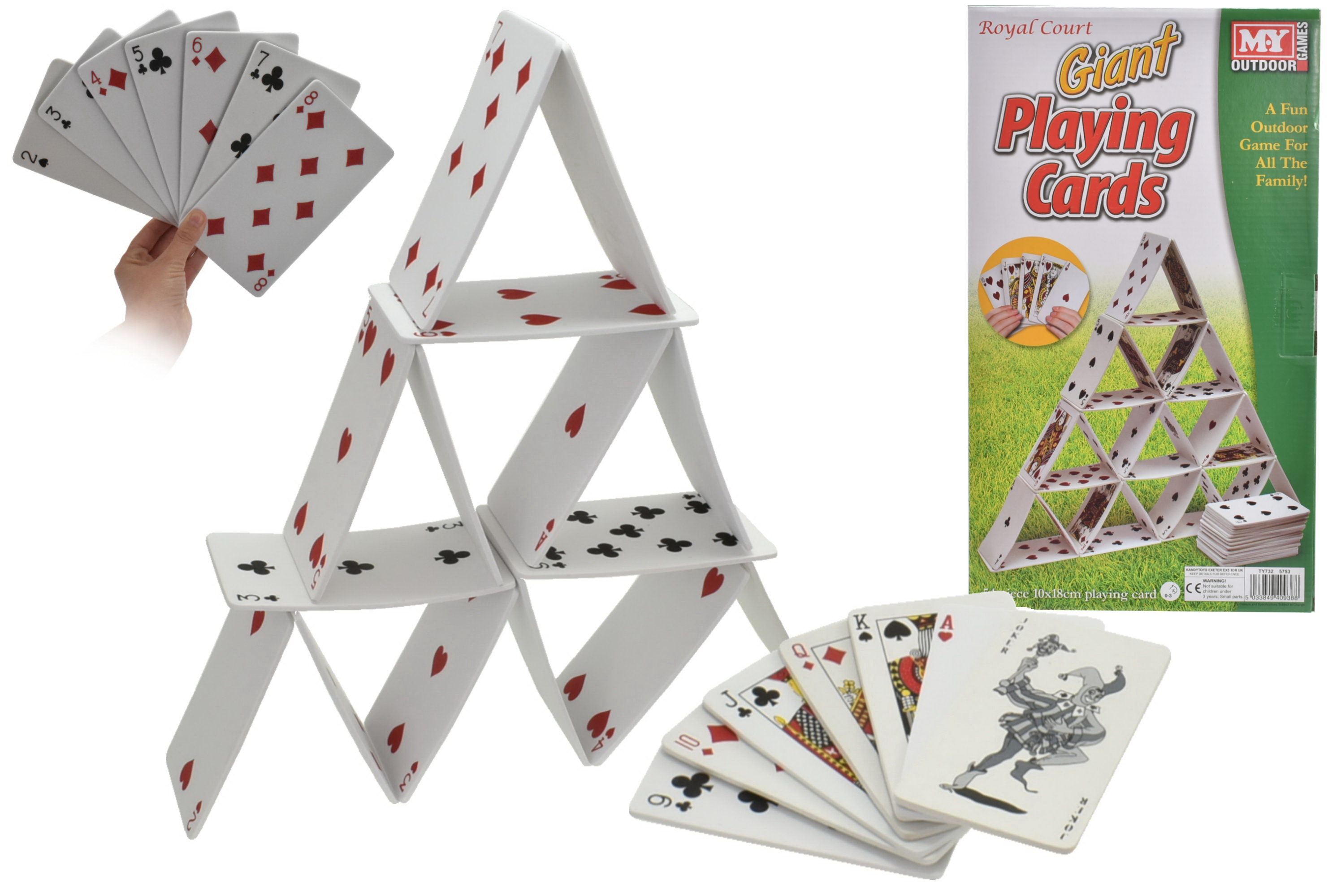 54pc Eva Playing Cards In Colour Box