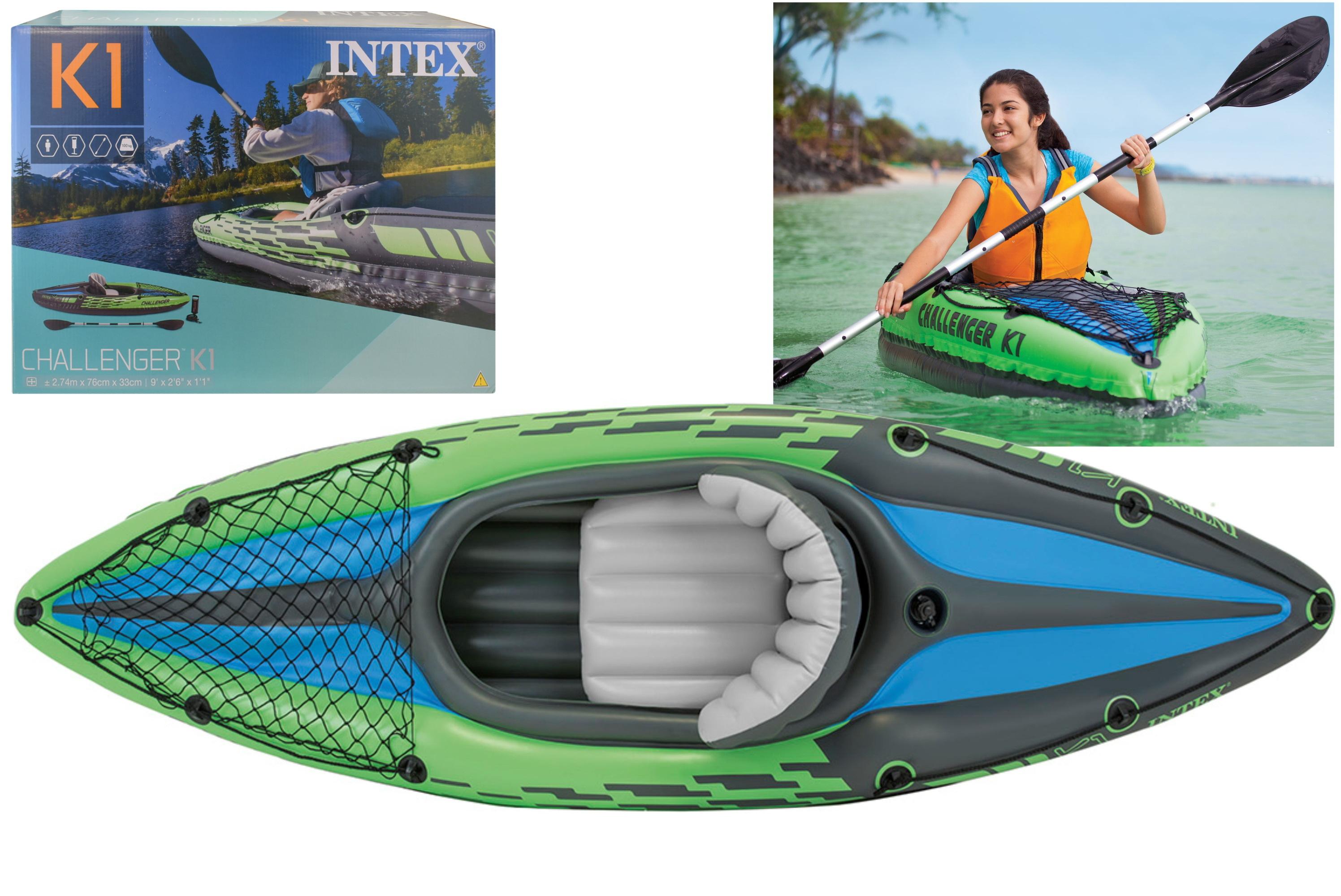 "Challenger K1 Kayak With Allum Paddle 108"" x 30"" x 15"""