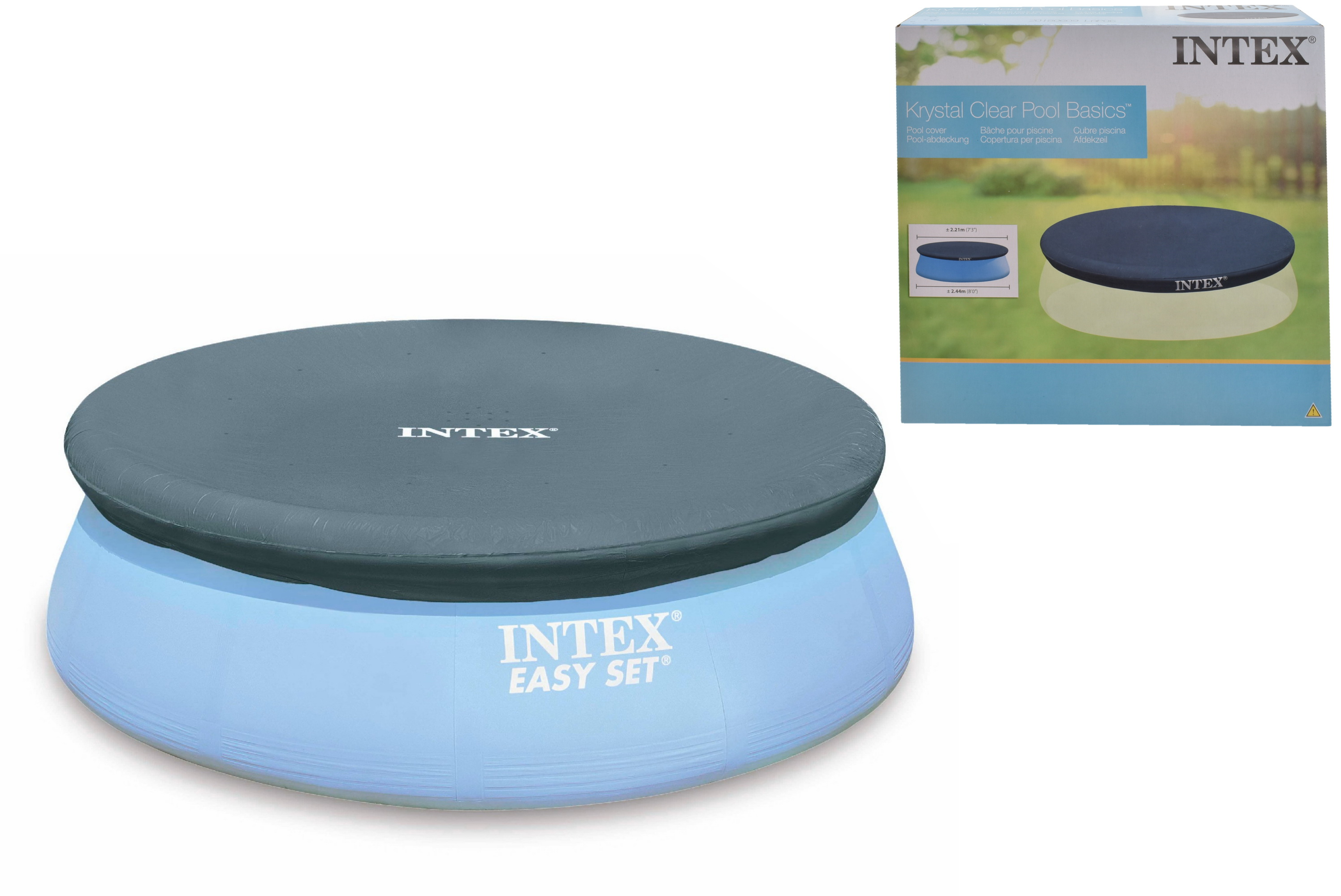 8' Easy Set Pool Cover In Shelf Box