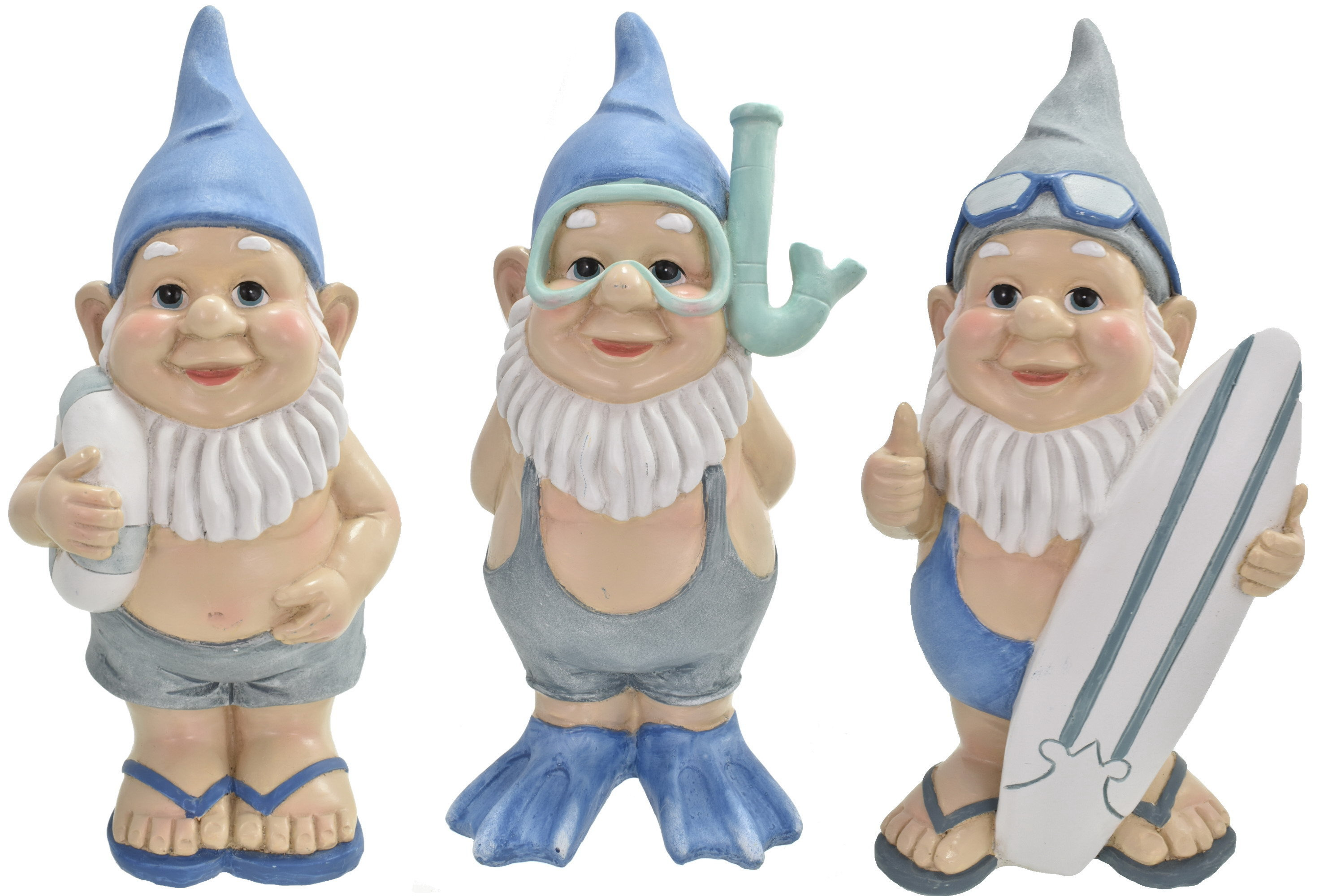 22.5cm Gnautical Beach Gnome 3 Assorted Designs