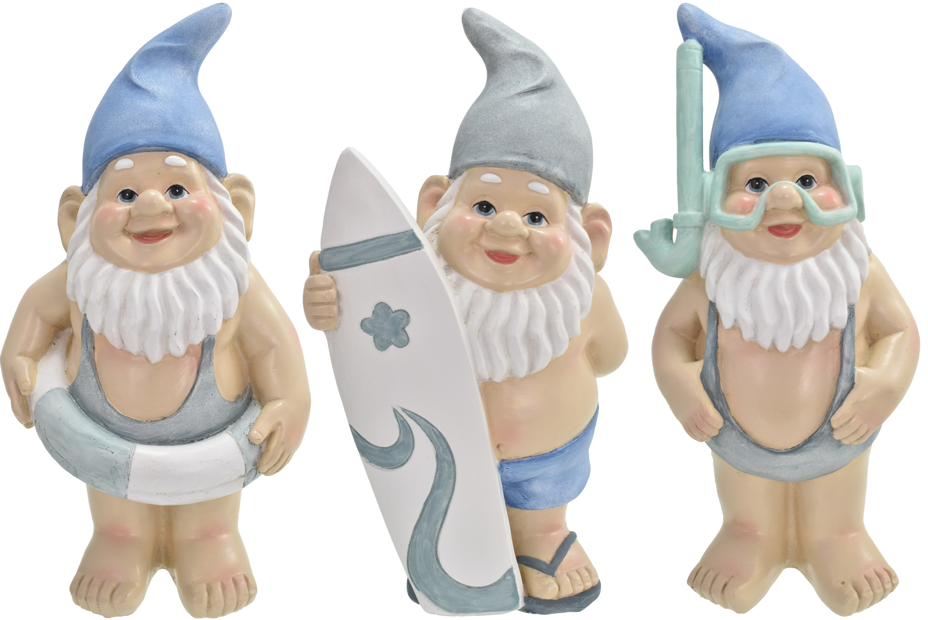 19cm Gnautical Beach Gnome 3 Assorted Designs
