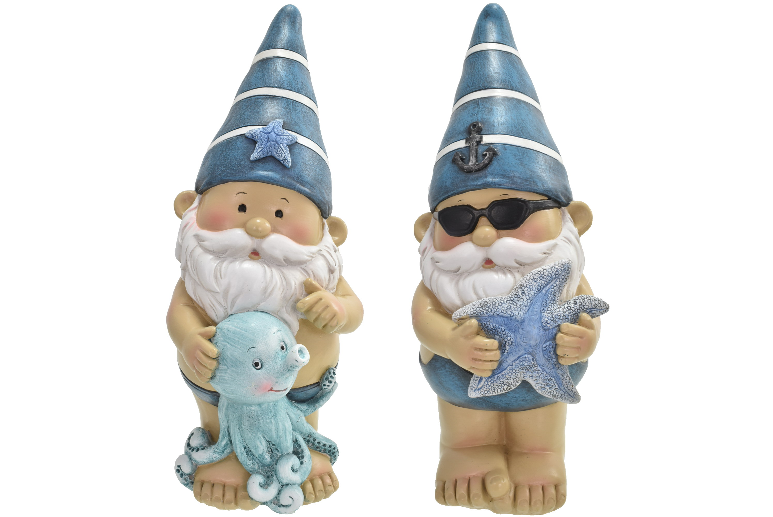 26cm Gnautical Gnome W/ Starfish/Octopus 2 Asst Design