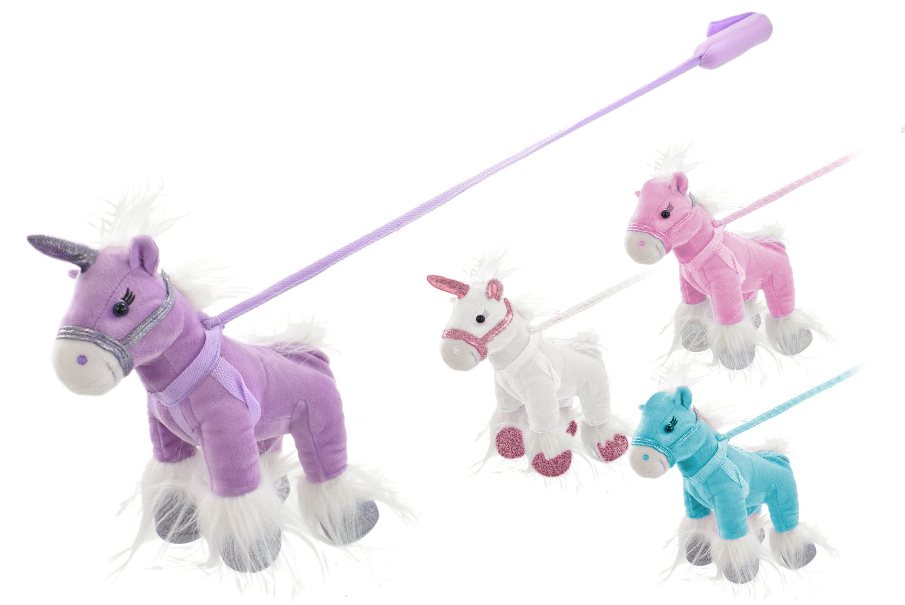 Unicorn & Pony On Lead 2 Assorted/2 Assorted Colours