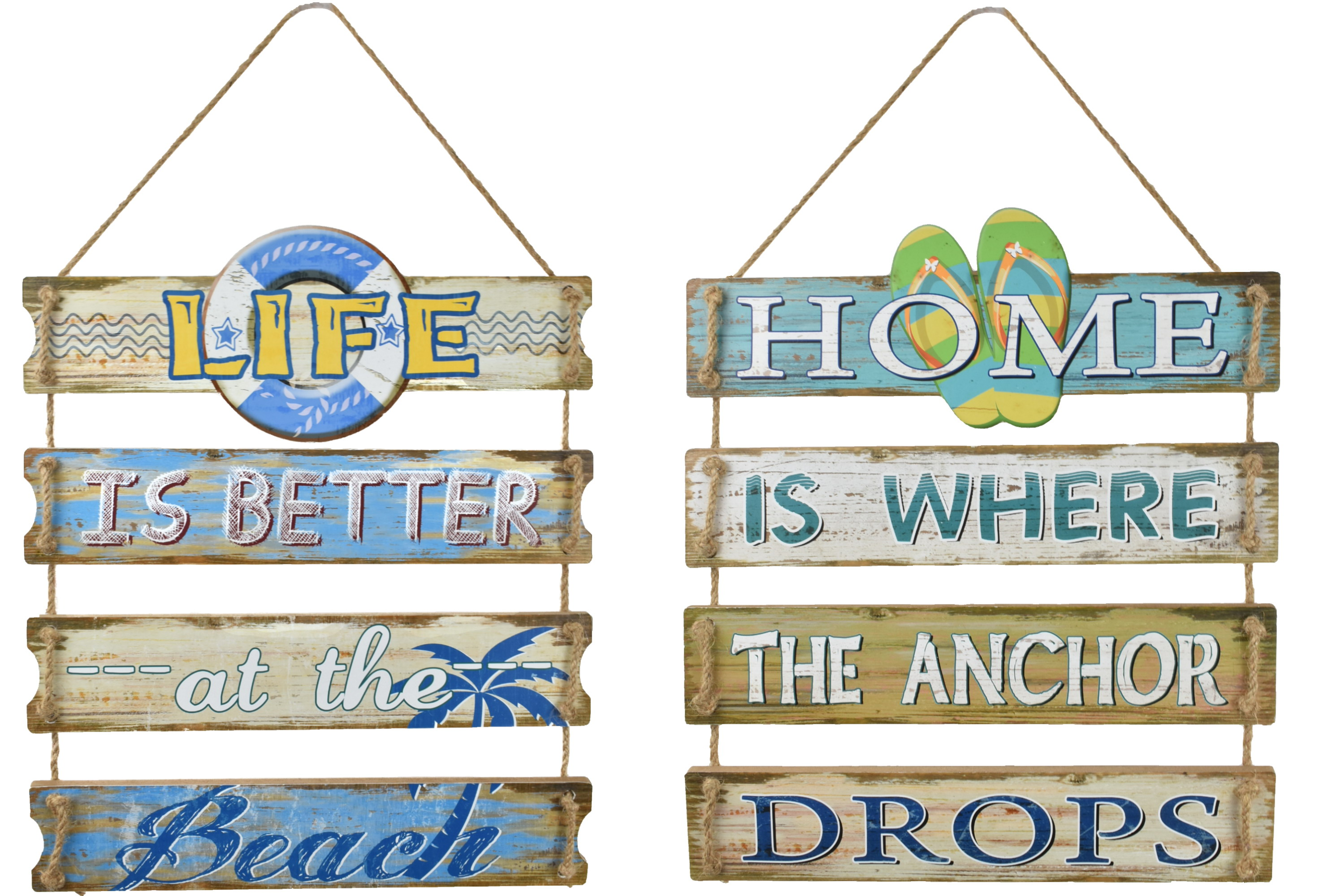 43x39cm 4 Plank Hanging Sign 2 Assorted Designs