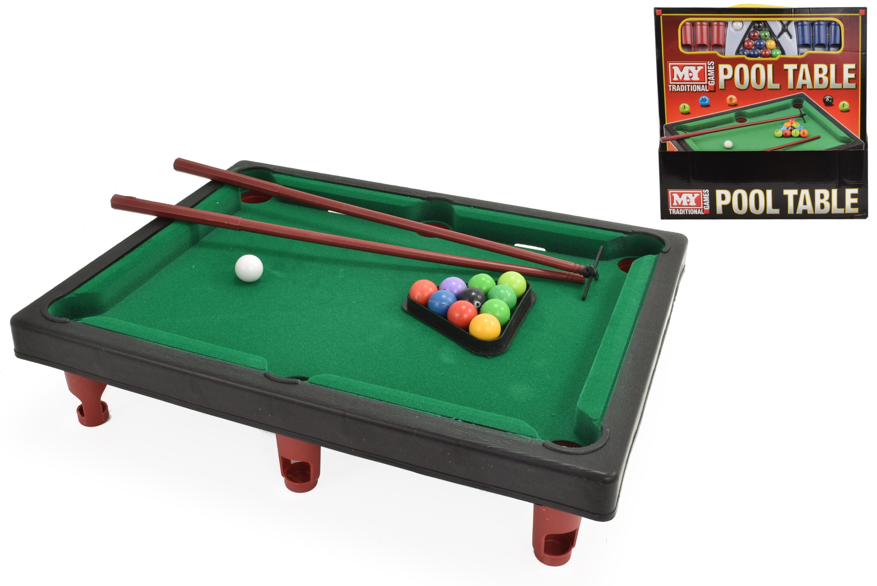 "Pool Table Game In Window Box / Pdq - ""M.Y"""