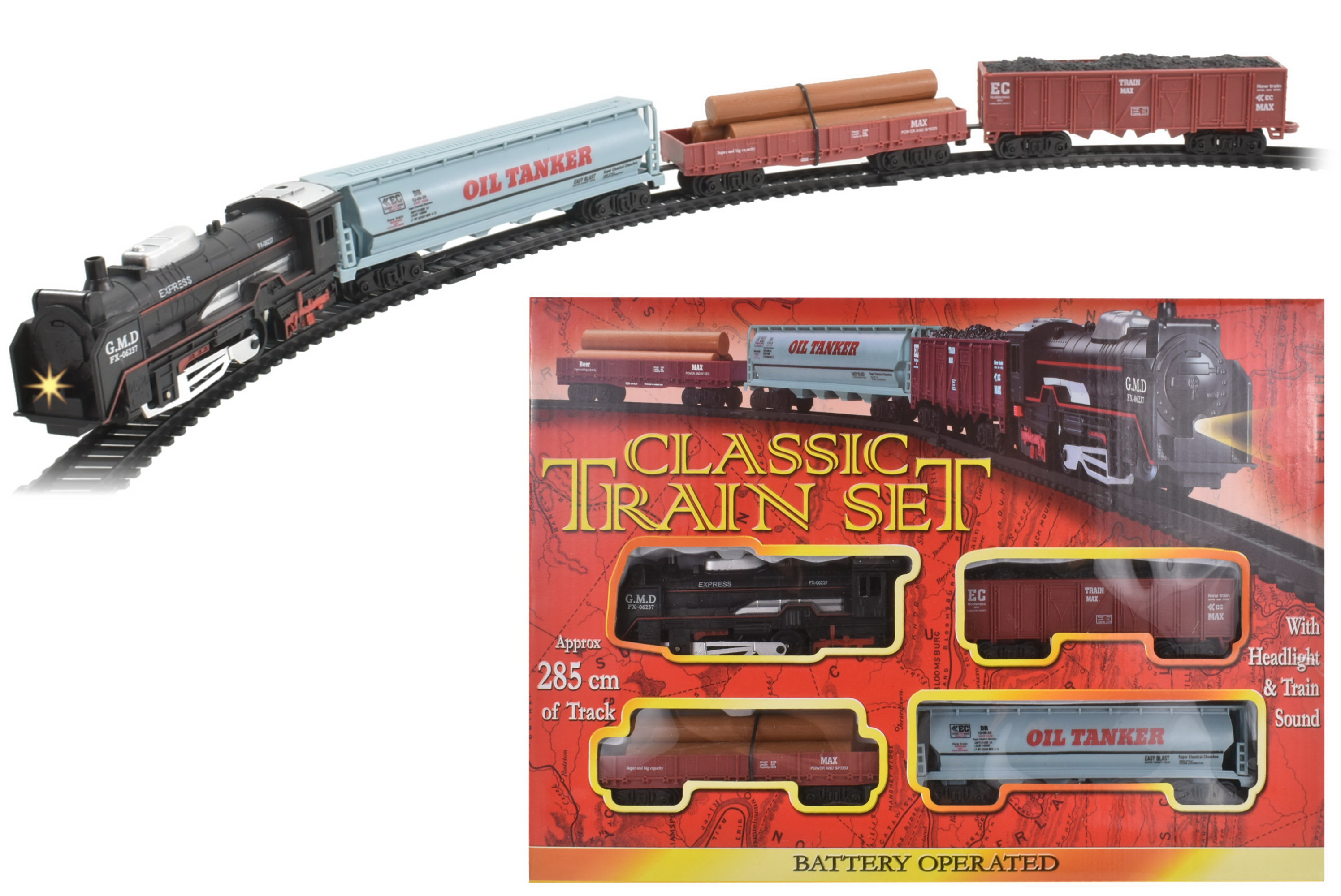 "B/O Train Set In Window Box ""Train Series"""