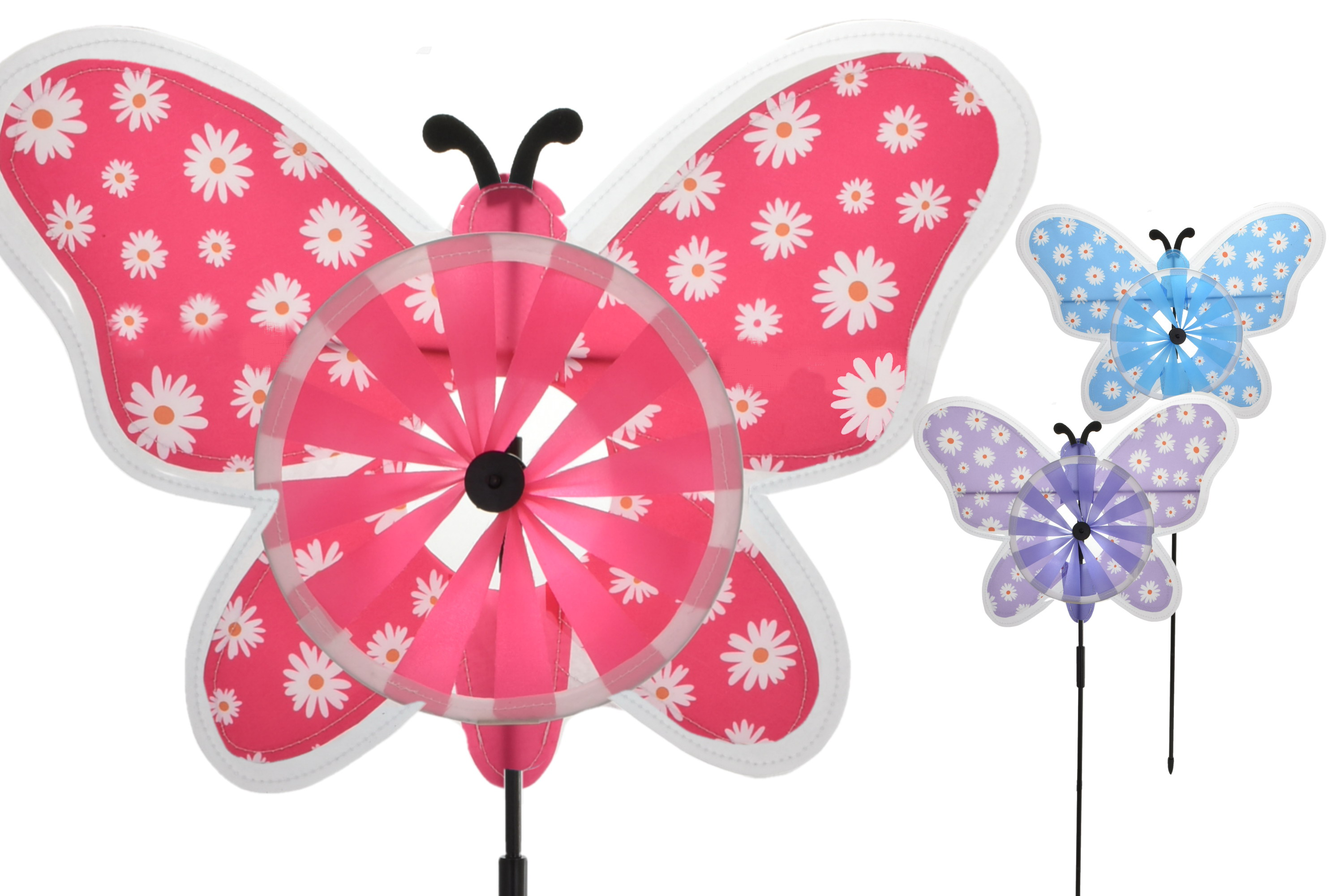 Butterfly Windmill 3 Assorted Colours