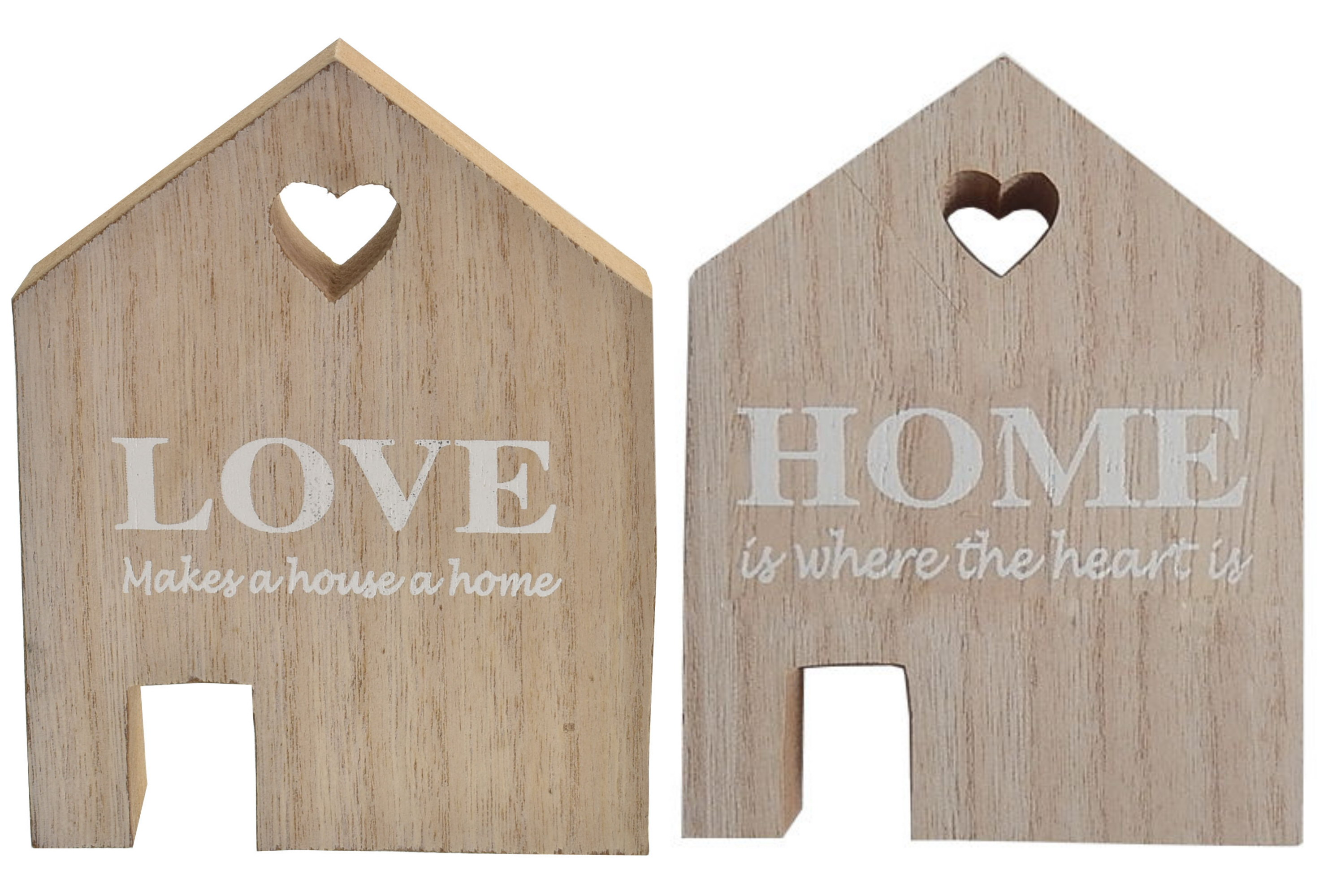 10x13cm Wooden Love House 2 Assorted Designs