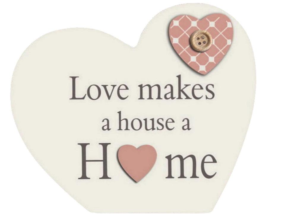 15x13cm Wooden Heart Home Ornament