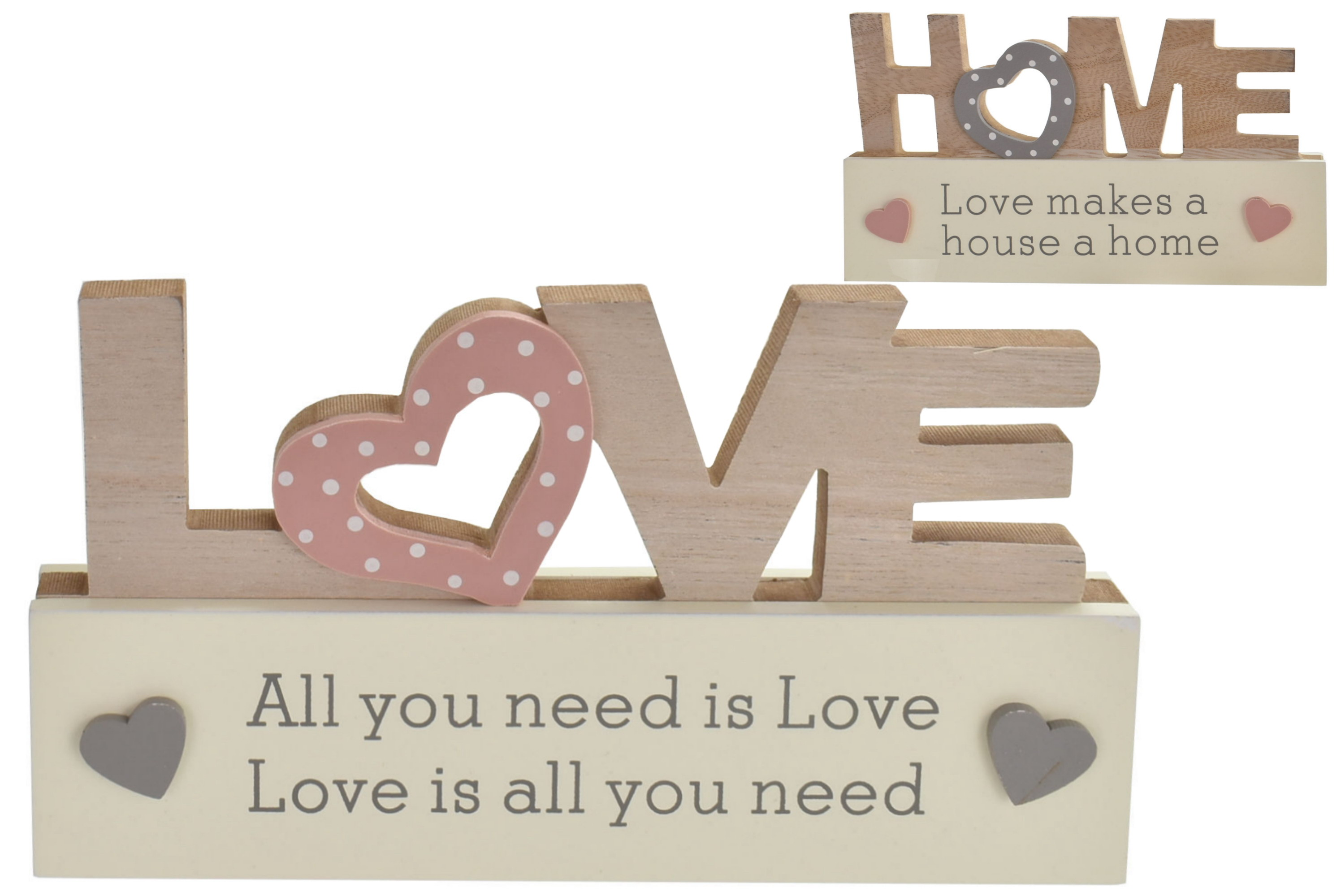 19.5x10cm Wooden Love/Home Letters 2 Assorted Designs