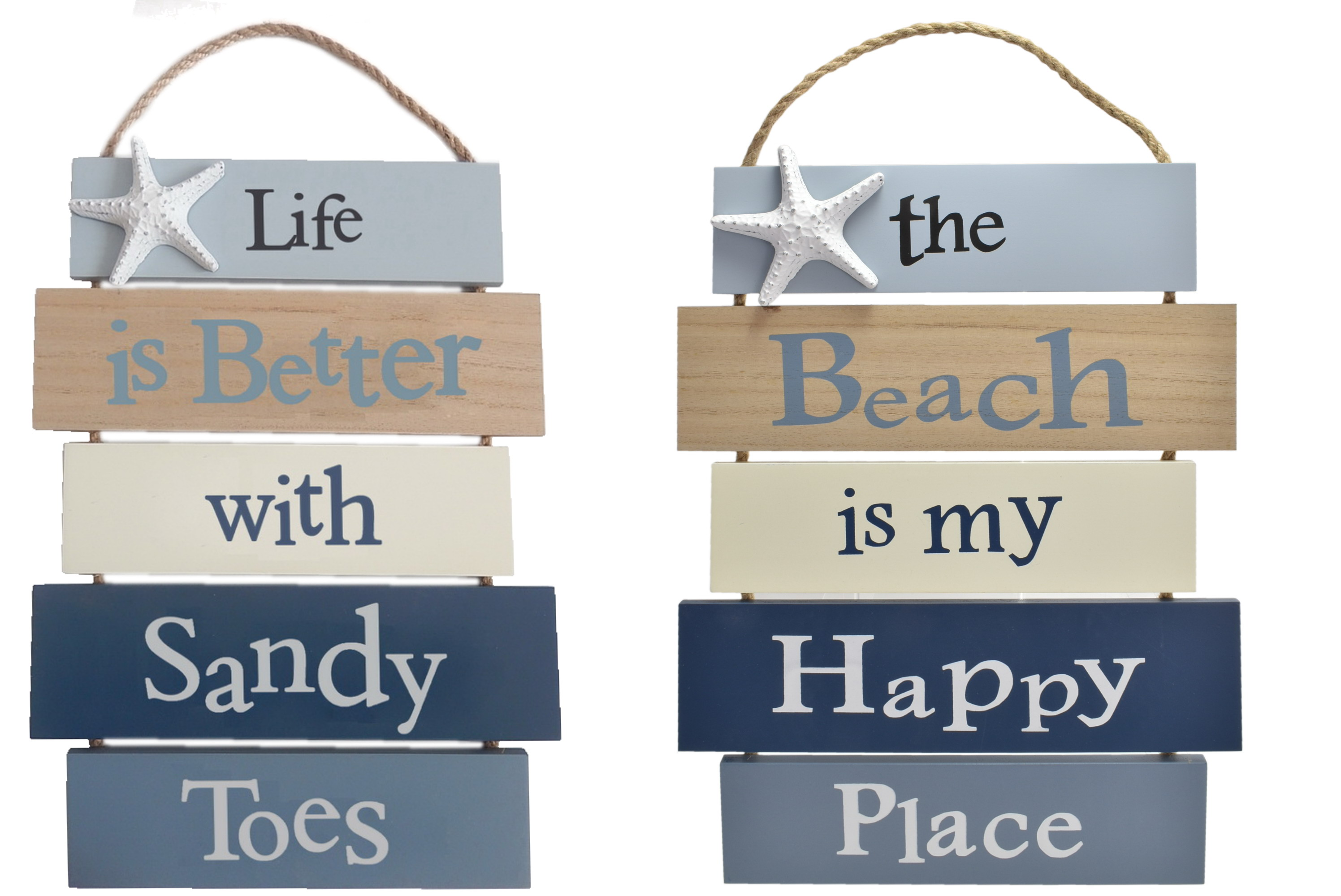 51x30cm 5pc Wooden Hanging Sign 2 Assorted Designs