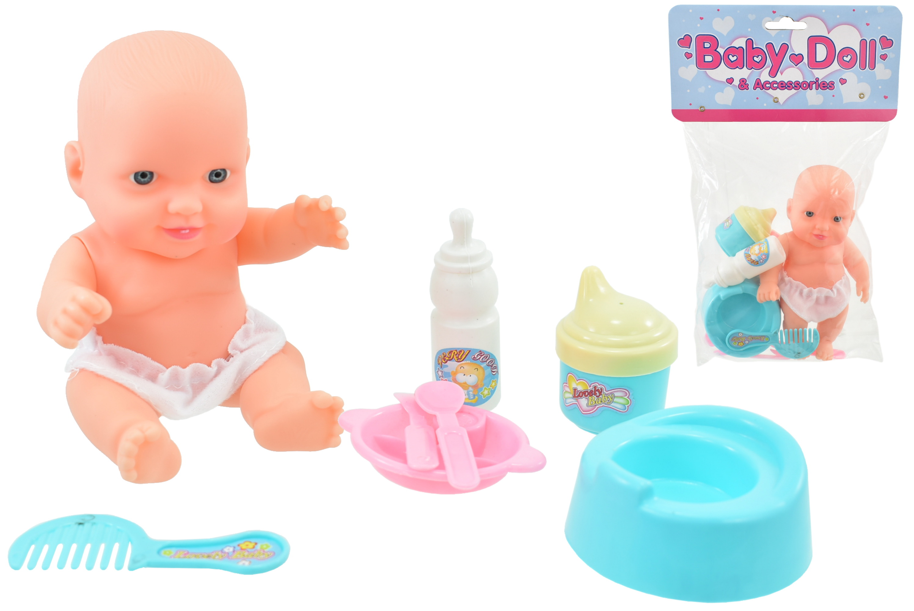 "Baby Doll Set In Polybag / Header ""M.Y Baby"""
