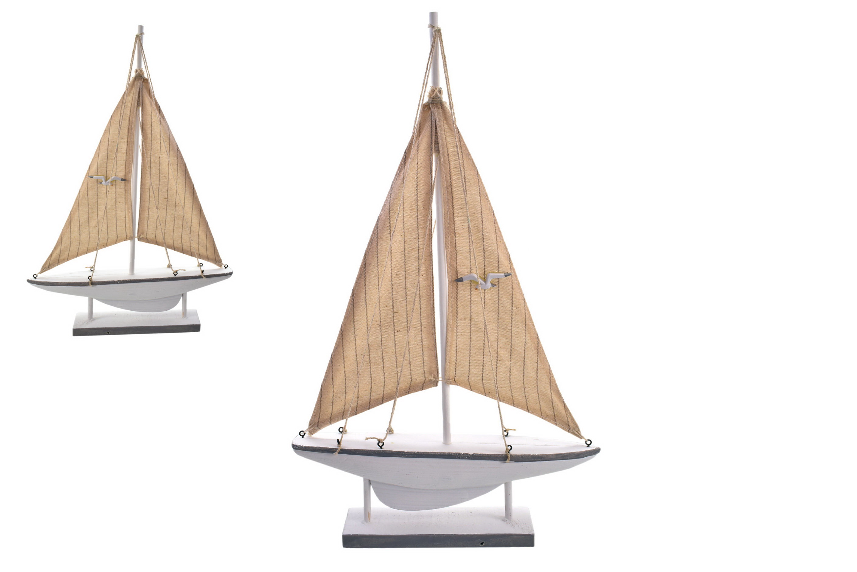 42.5cm Wooden Boat