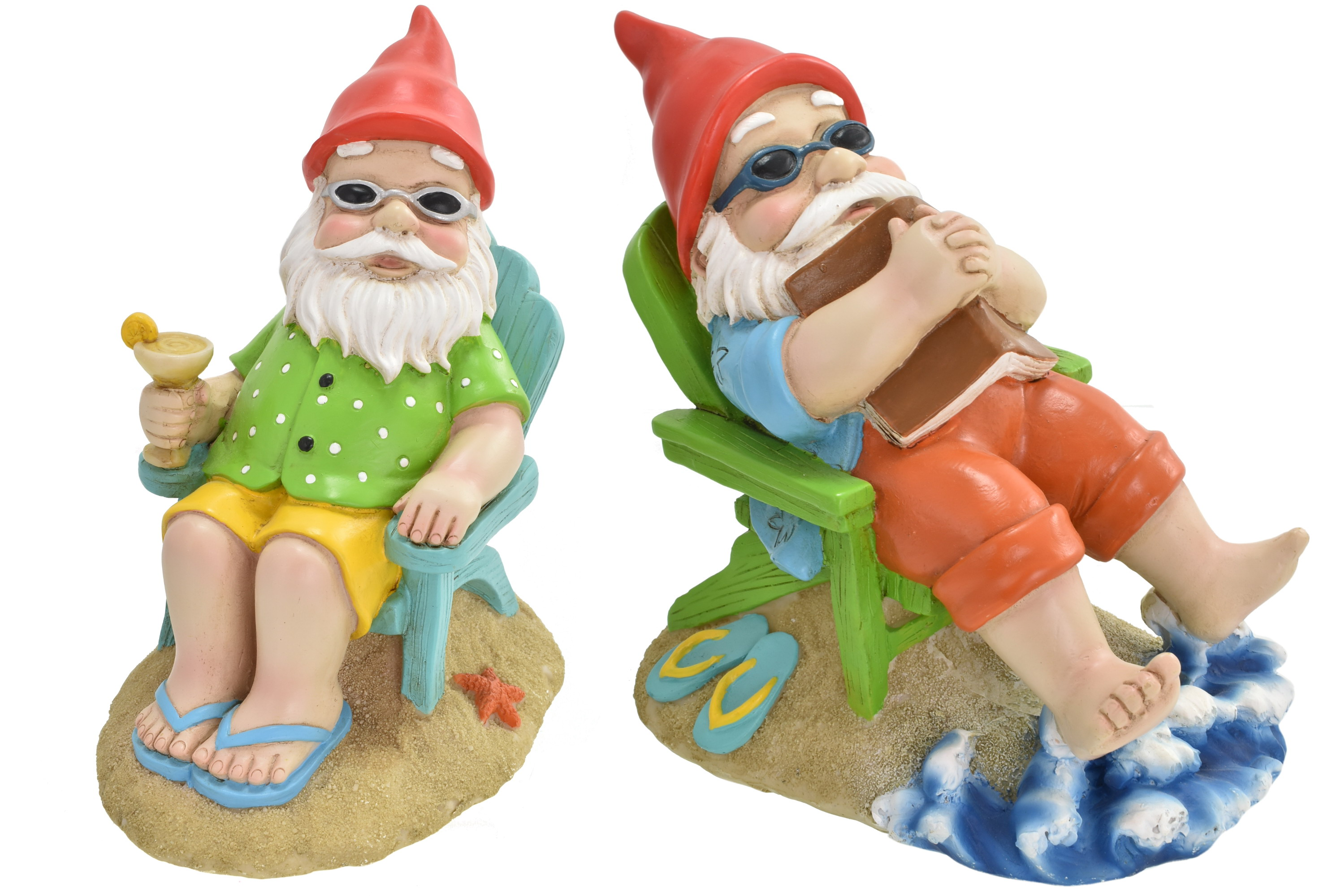 17cm Deck Chair Gnome 2 Assorted