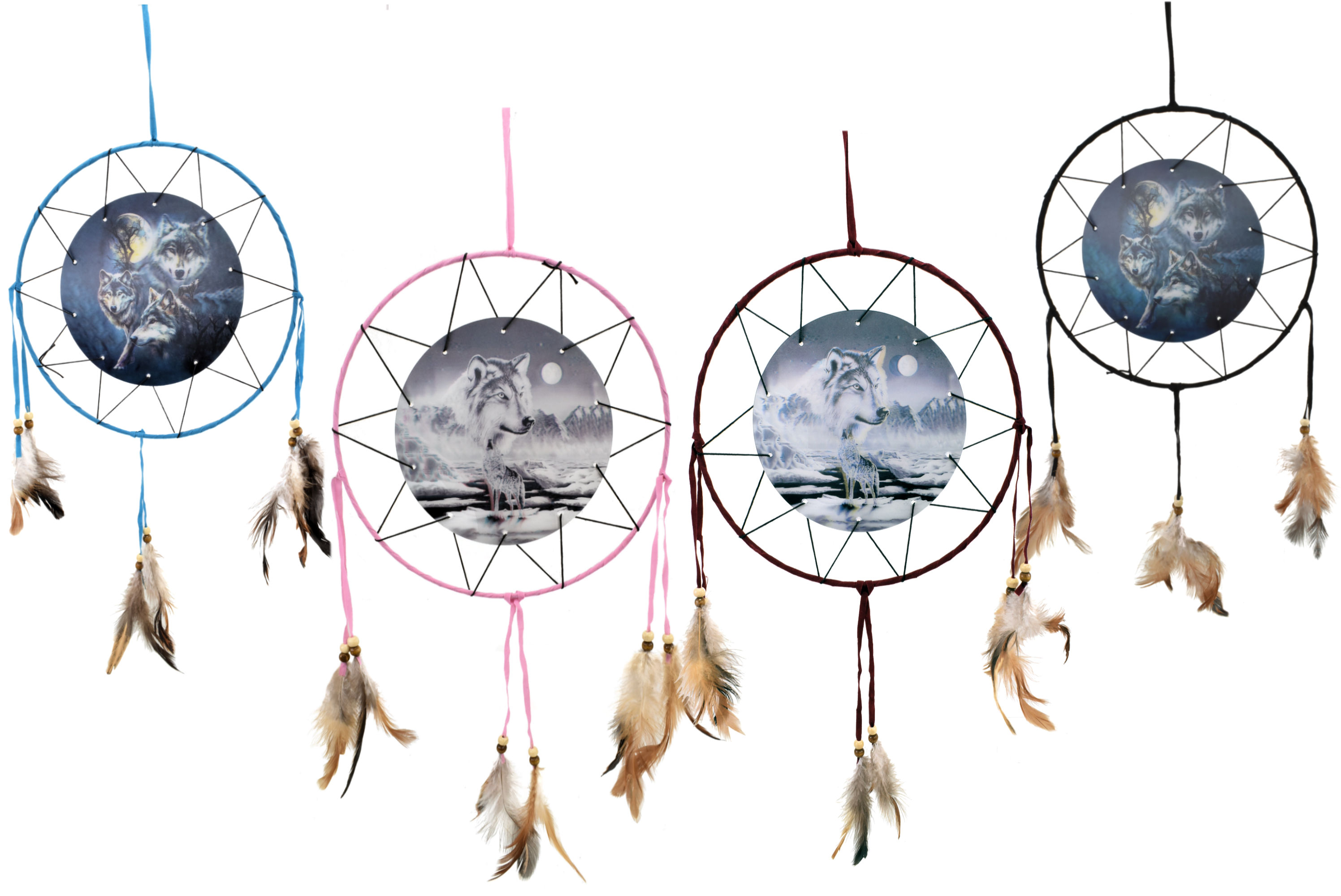 9 Inch Dream Catcher With 3d Picture In 2 Asst Designs