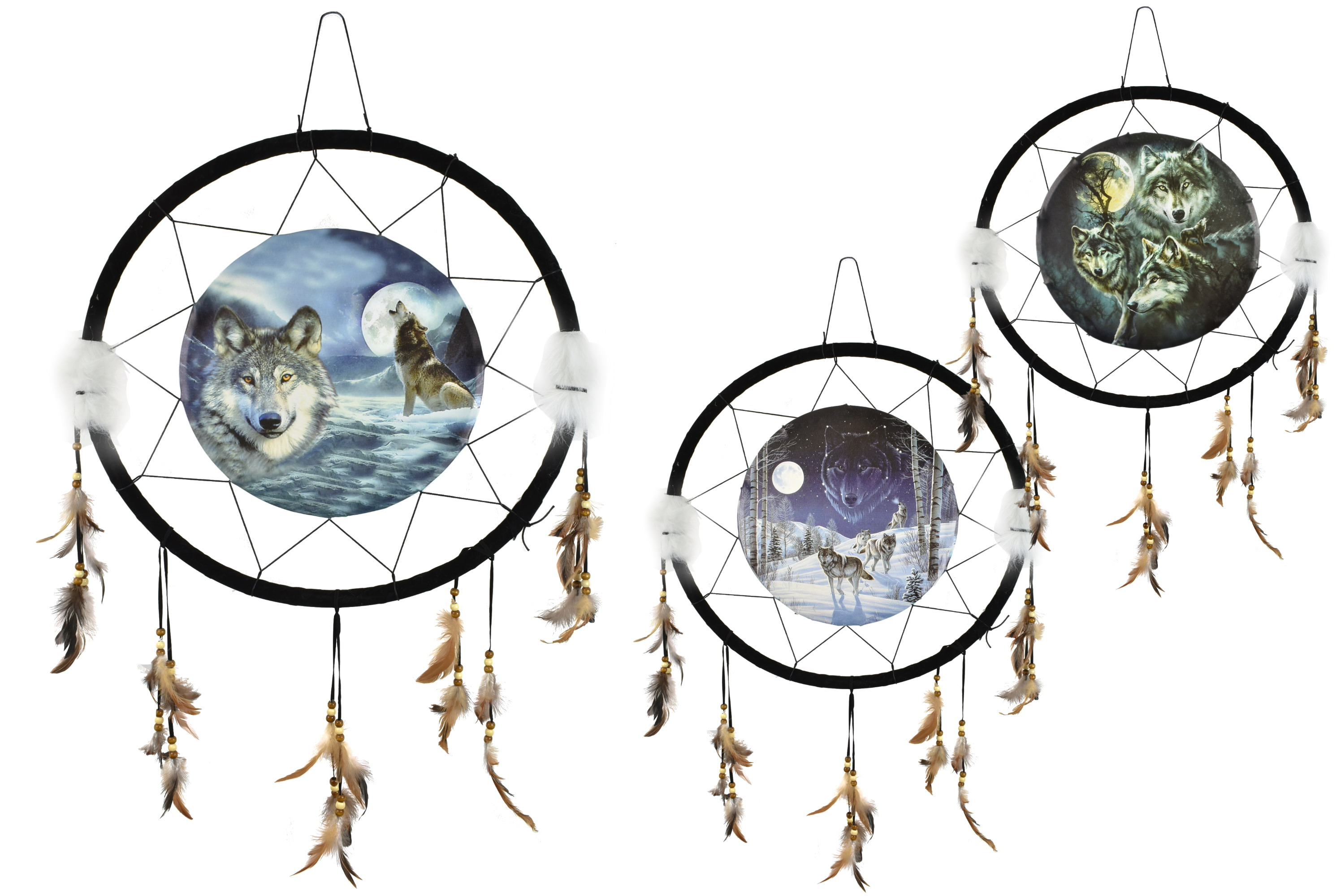 22 Inch Dream Catcher With Picture In Polybag