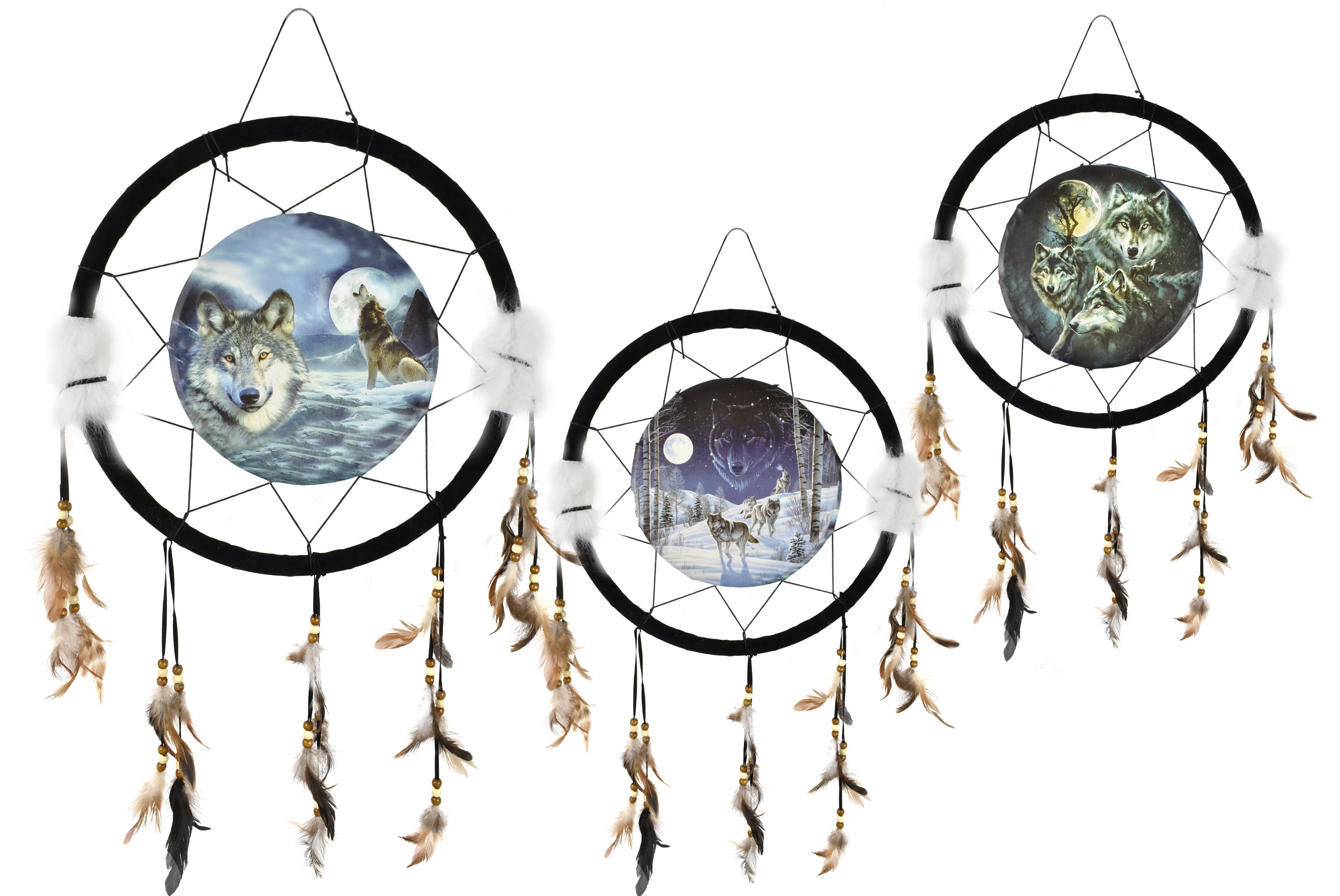 17 Inch Dream Catcher With Canvas Picture In Polybag