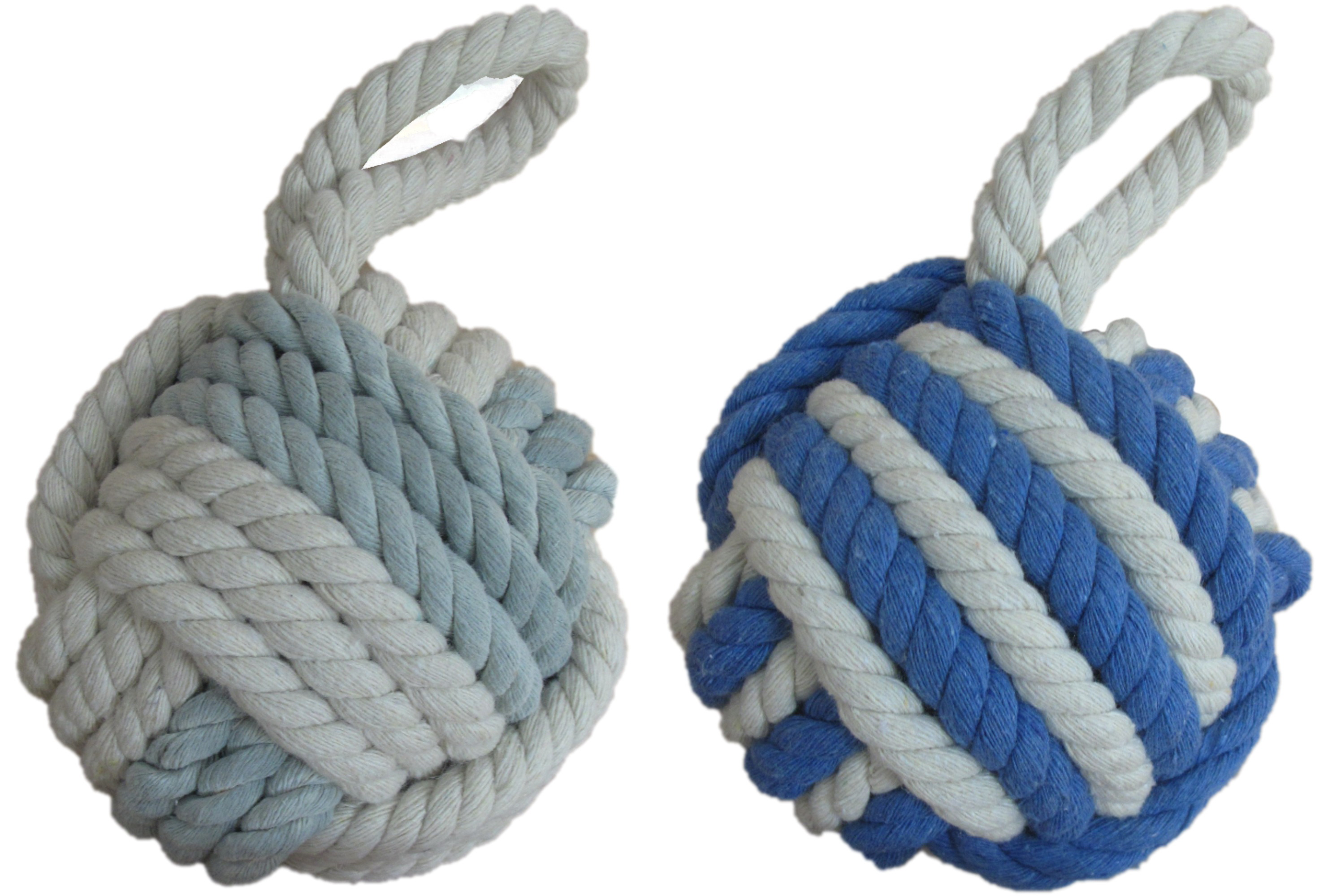Rope Door Stop 13cm 2 Assorted Colours
