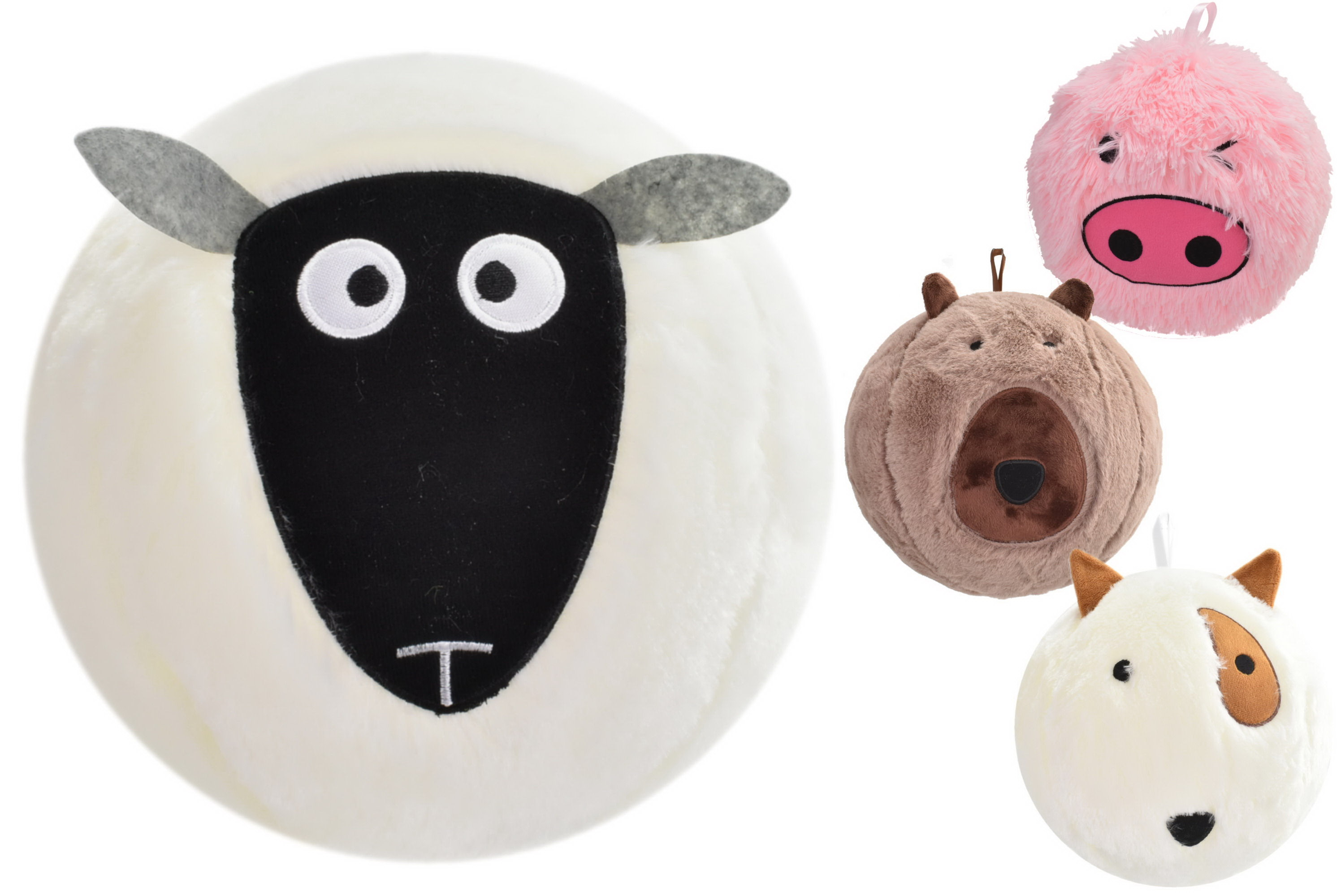 "9"" Animal Ball - Deflated (4 Assorted) In Net Bag"