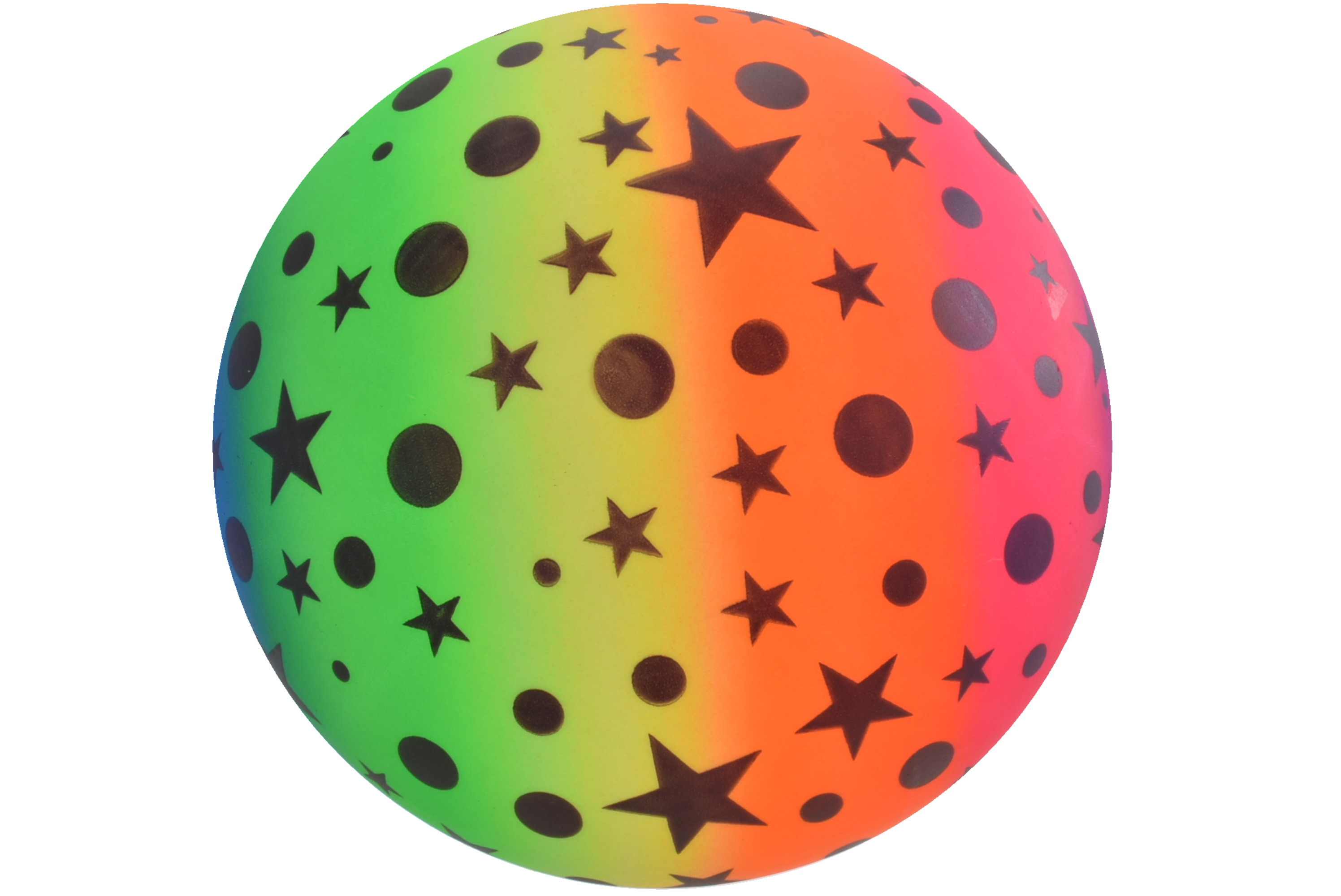"9""Rainbow Stars & Moons Ball - Deflated In Net Bag"