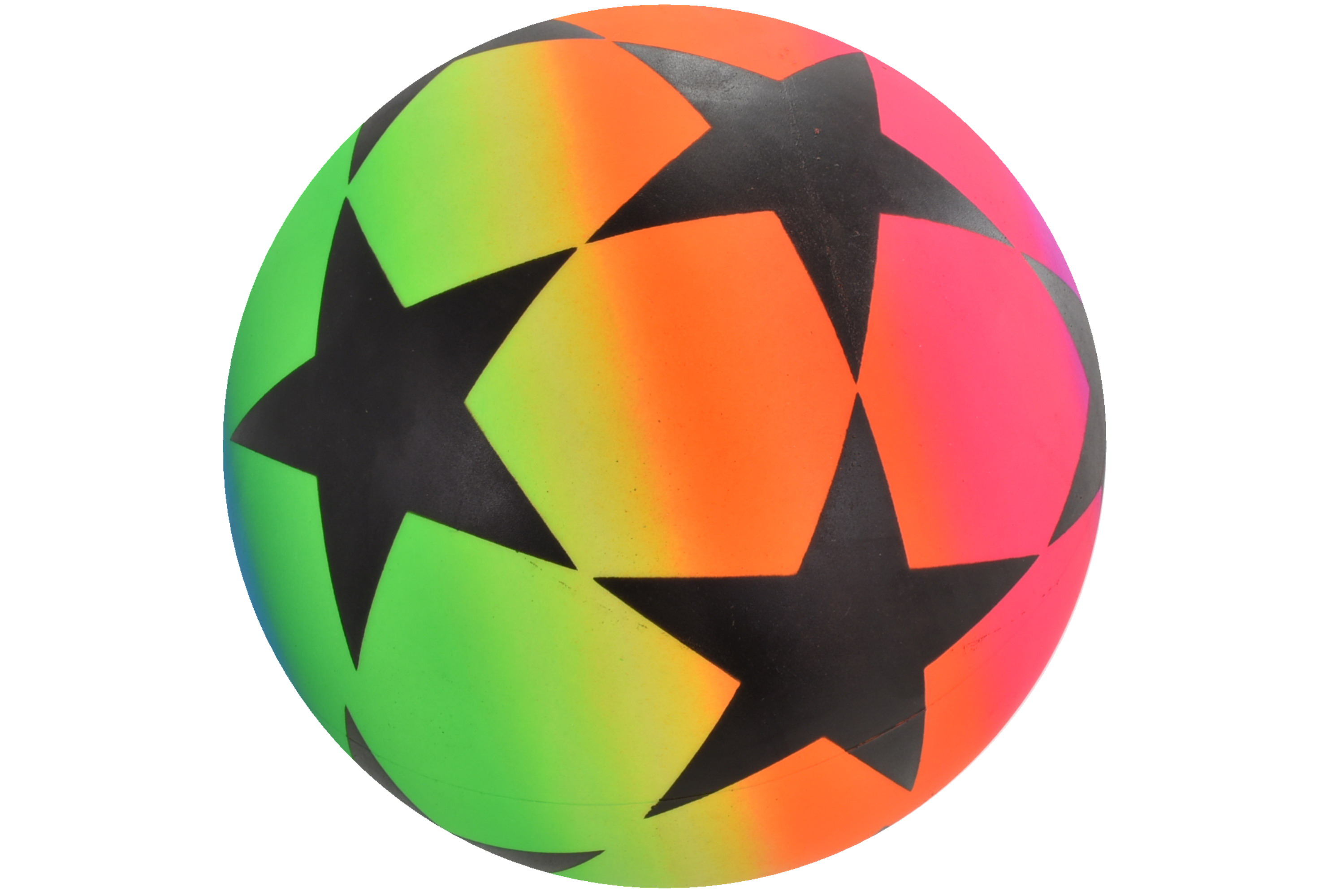 "9"" Large Stars Neon Ball Deflated - Net Bag"