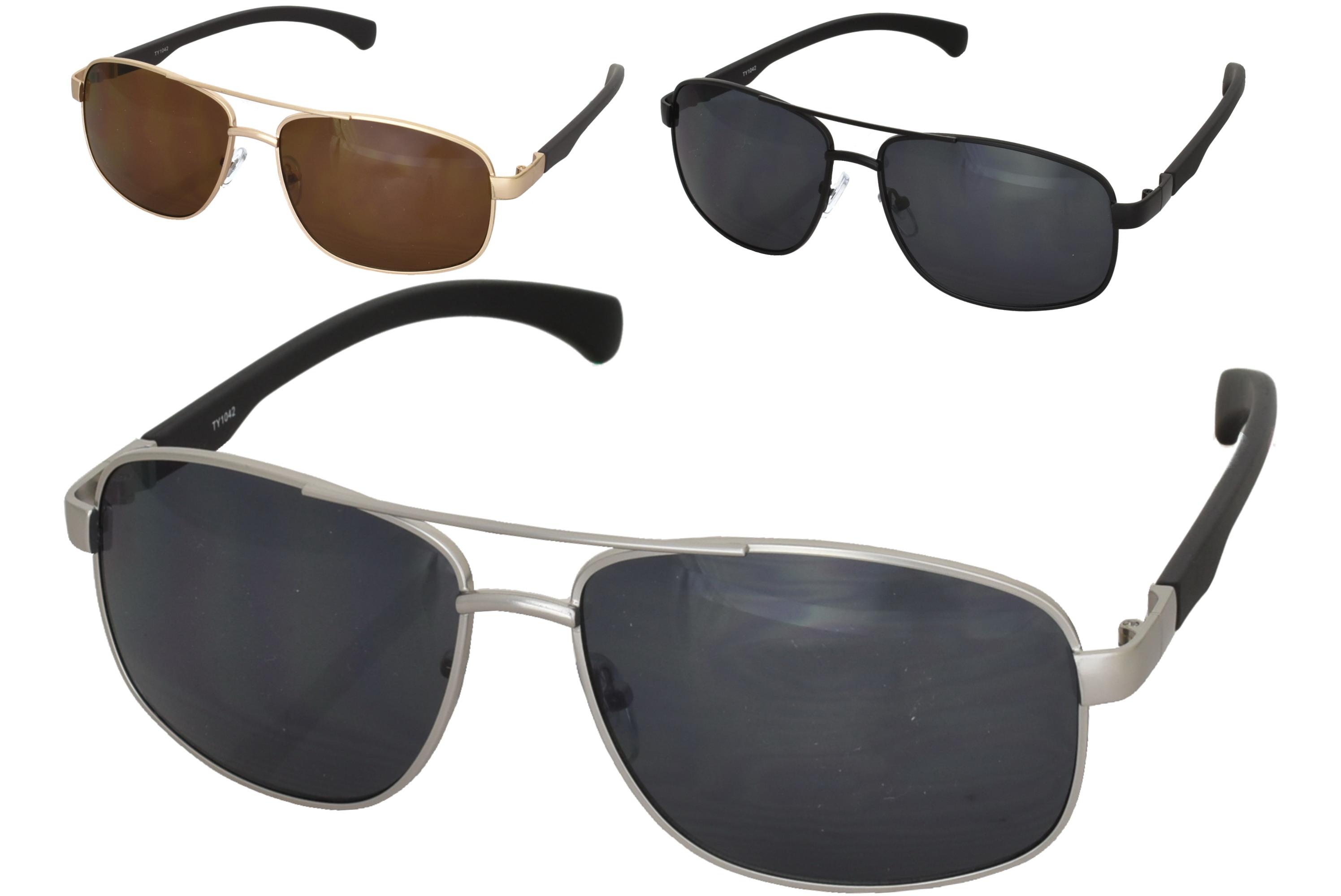 Adults Metal Frame Designer Sunglasses (3 Assorted)