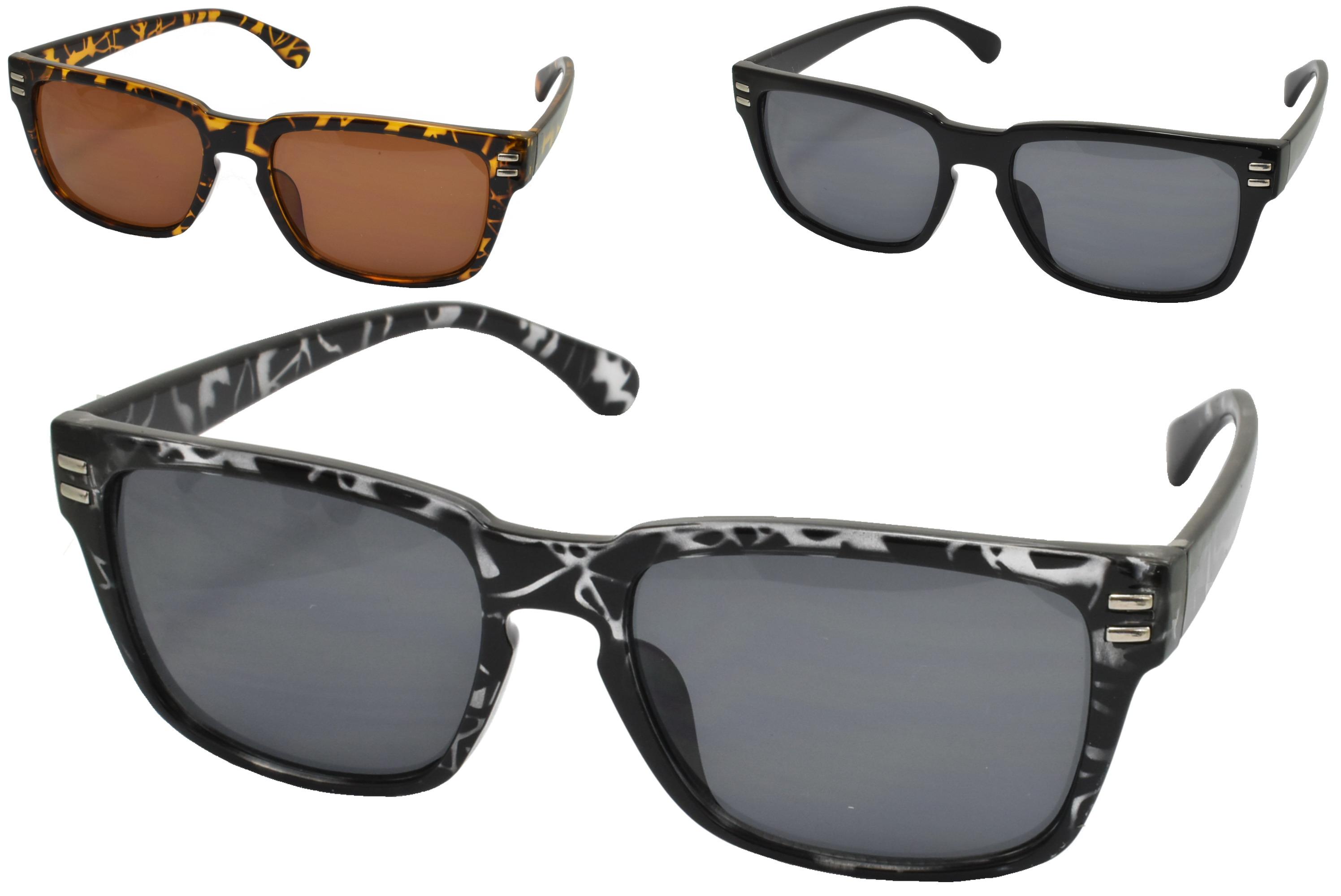 Adults Plastic Shiny Designer Sunglasses (3 Assorted)