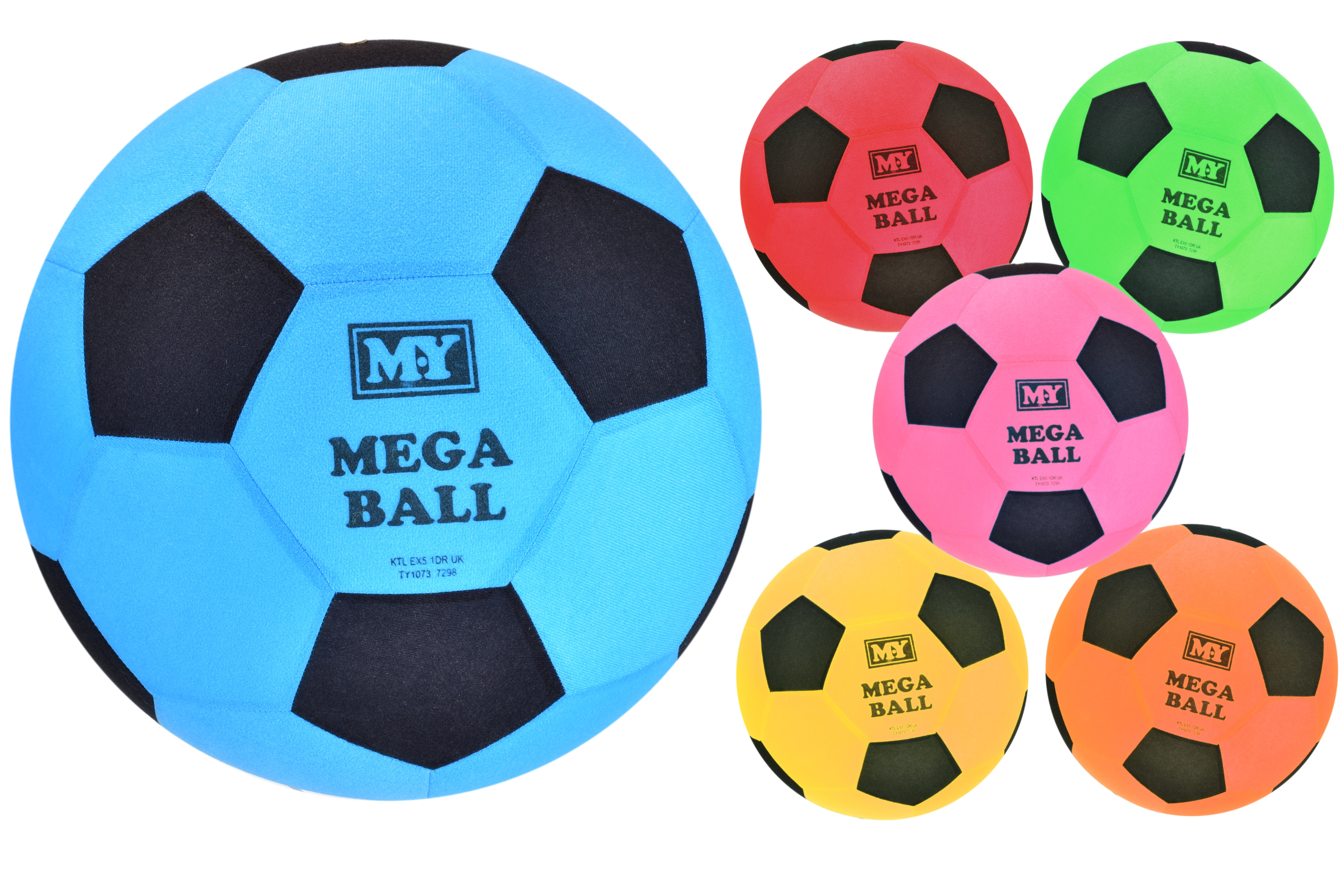 """Mega Ball - 45cm Dia/240gm (6 Asst Cols) """"Summer Fun"""""""
